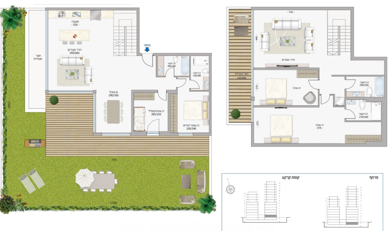 公寓 为 销售 在 Intriguing Garden Apartment in a New Development 特拉维夫, 以色列 以色列