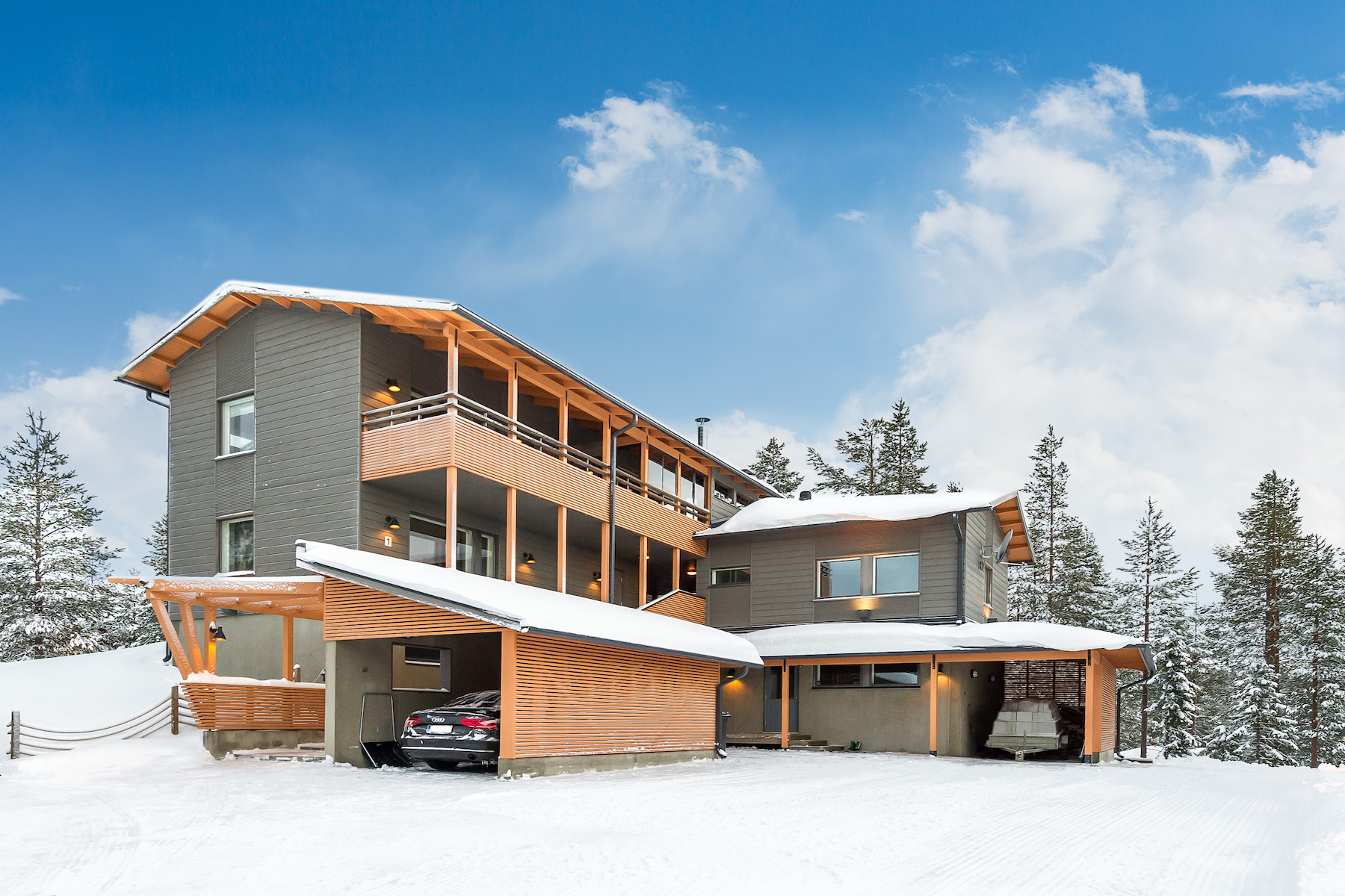 Casa para uma família para Venda às Incredible villa at Rukatunturi Plantingintie 1 Other Cities In Finland, Cities In Finland, 93830 Finland