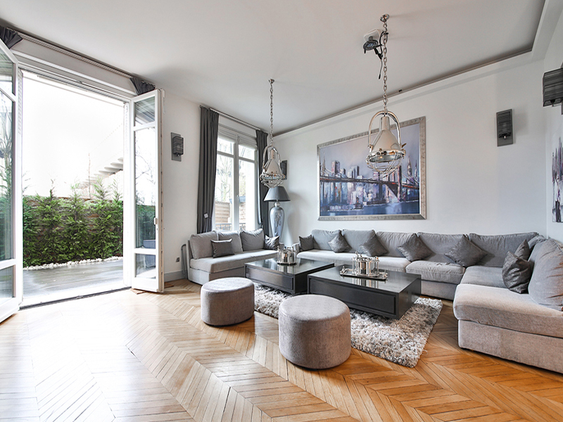 Apartman Dairesi için Satış at Sublime apartment with private garden and terrace - Flandrin Paris, Paris 75016 Fransa
