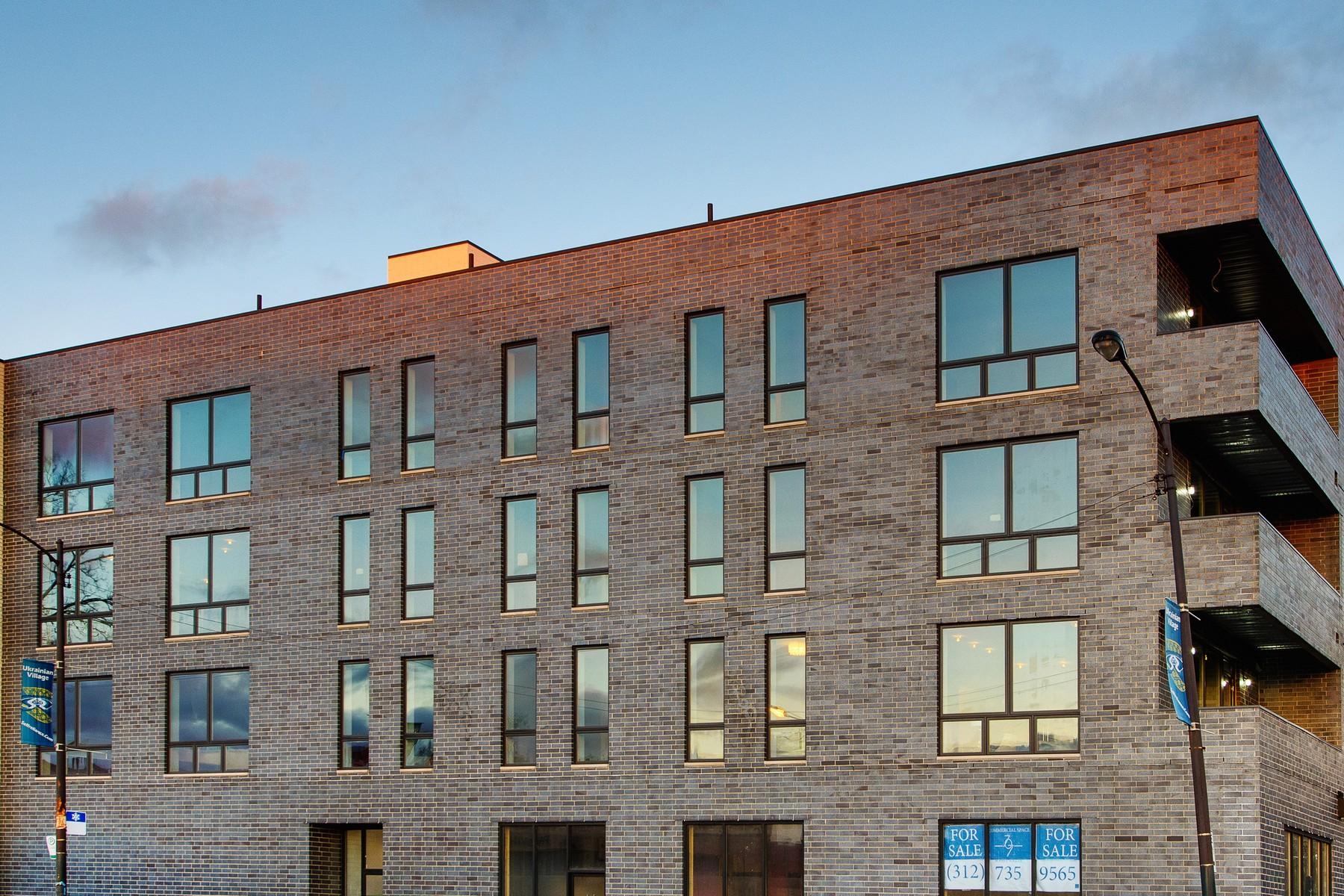 Кооперативная квартира для того Продажа на Nine Unit Corner Elevator Building 707 N Western Avenue Unit 301 West Town, Chicago, Иллинойс, 60612 Соединенные Штаты