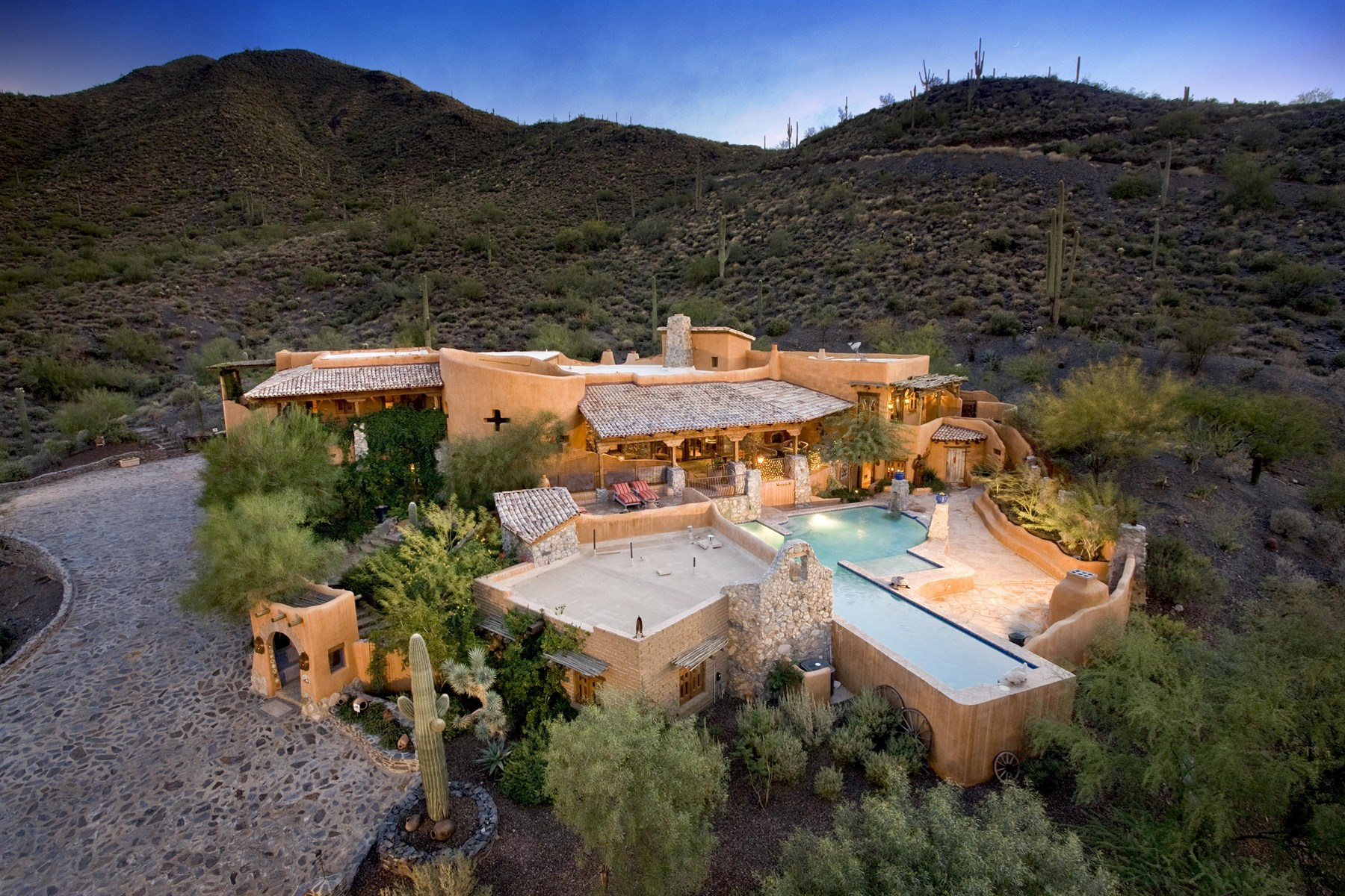 Single Family Home for Sale at Stunning spanish authentic with breathtaking views 37405 N School House Rd Cave Creek, Arizona, 85331 United States