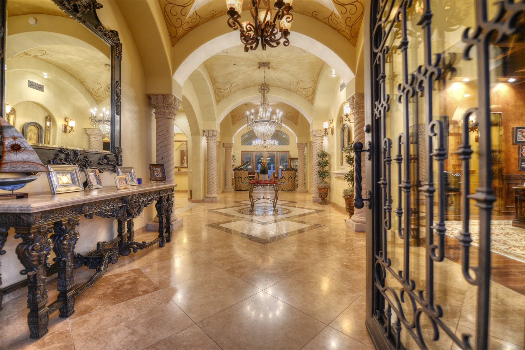 Single Family Home for Sale at A one of a kind custom built estate in Paradise Valley. 7115 E SUNNYVALE RD Paradise Valley, Arizona, 85253 United States
