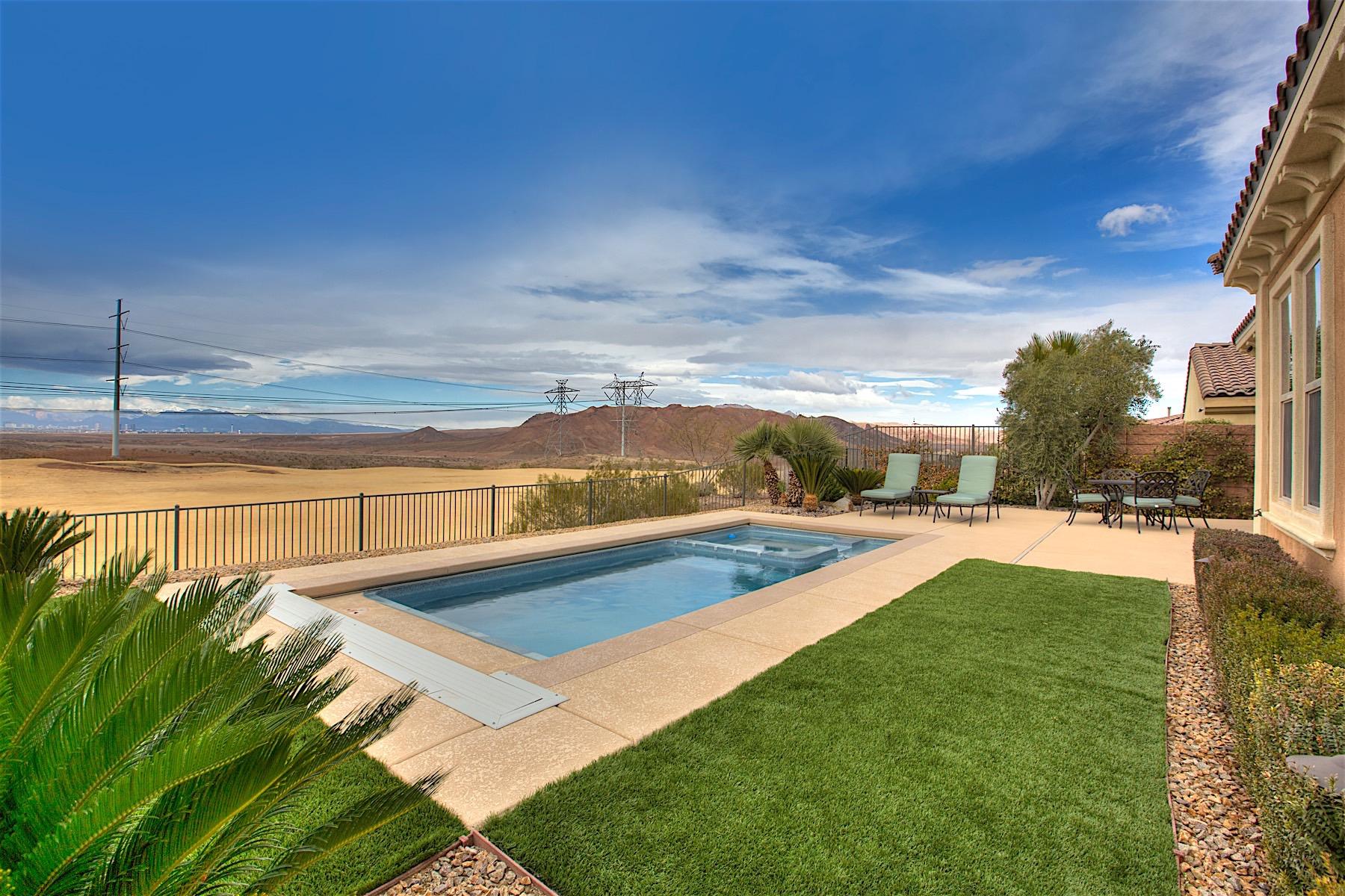 Частный односемейный дом для того Продажа на 19 Contrada Fiore Lake Las Vegas, Henderson, Невада 89011 Соединенные Штаты