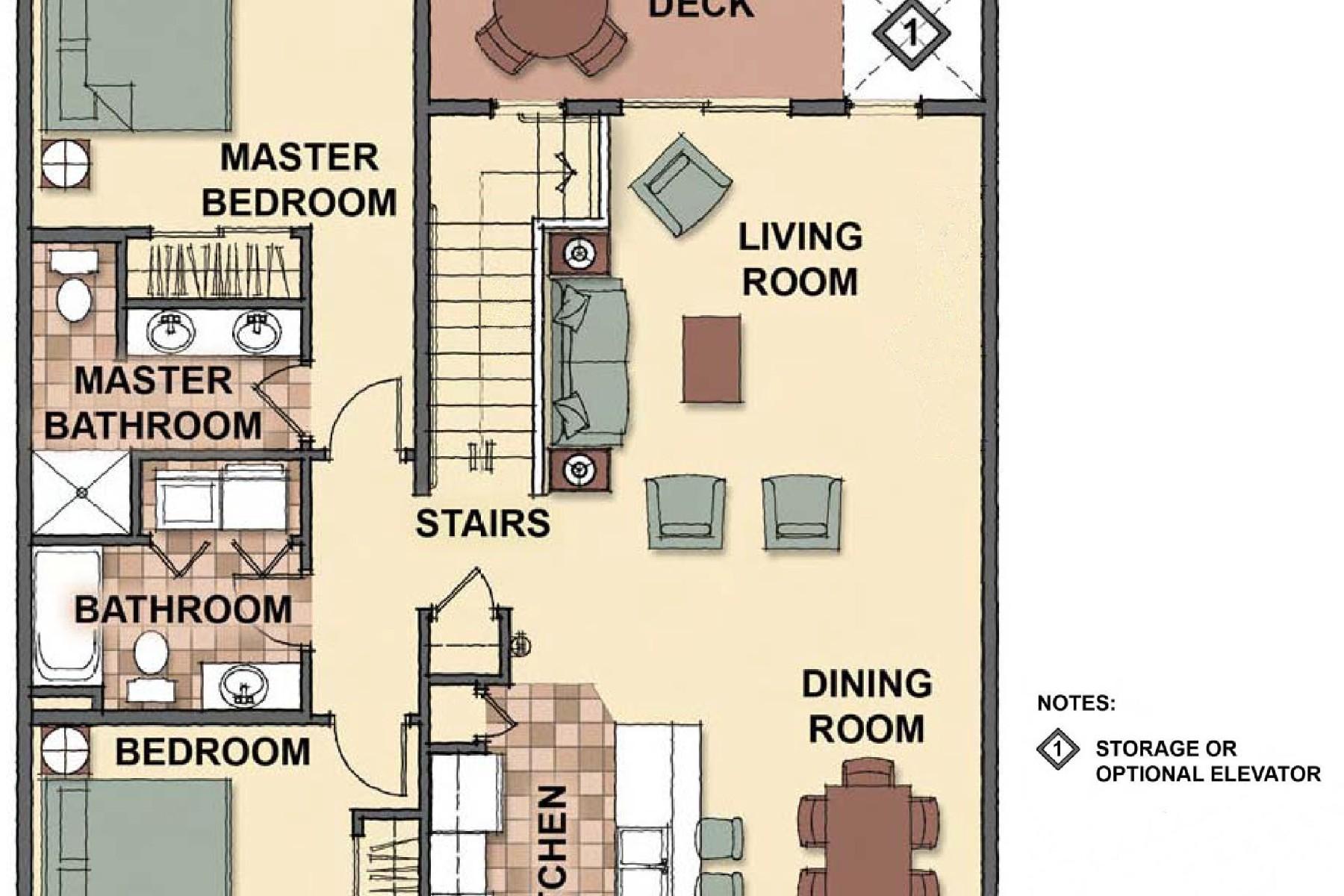 Appartement en copropriété pour l Vente à The Condos at Mill River 4577 Greenchain Loop #2 Coeur D Alene, Idaho 83814 États-Unis