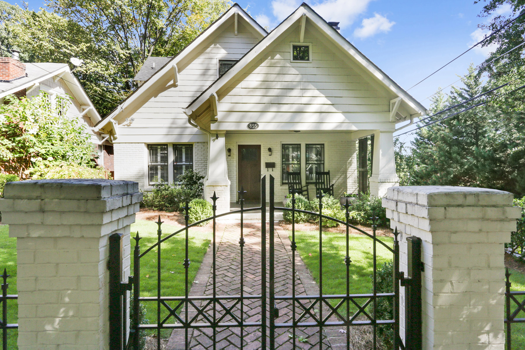 Single Family Home for Sale at Prettiest Craftsman Bungalow in Piedmont Park 855 Argonne Avenue NE Midtown, Atlanta, Georgia, 30308 United States