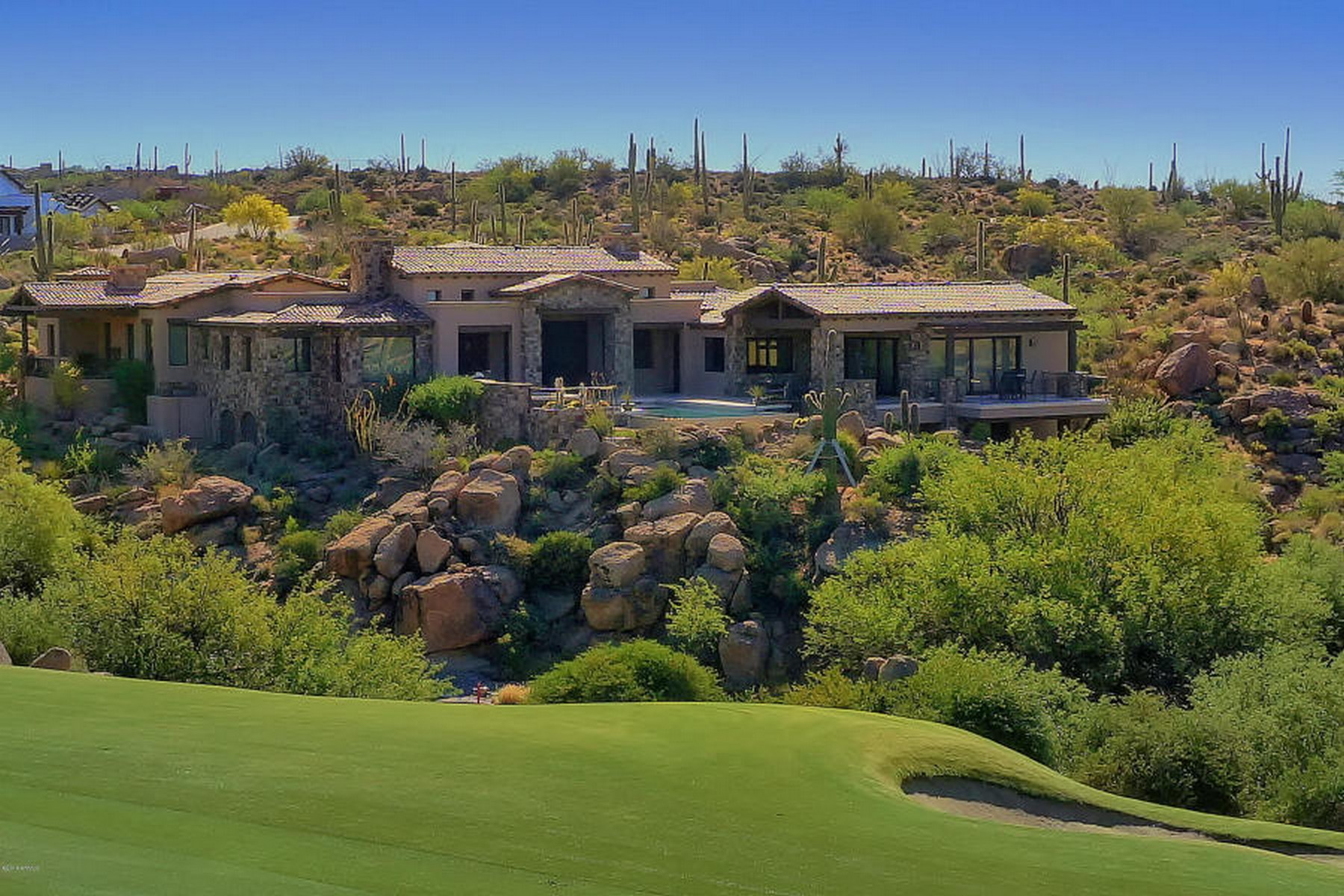 "Single Family Home for Sale at Modern Home Captures Everything ""Now"" at Desert Mountain 41296 N 96th Street Scottsdale, Arizona, 85262 United States"