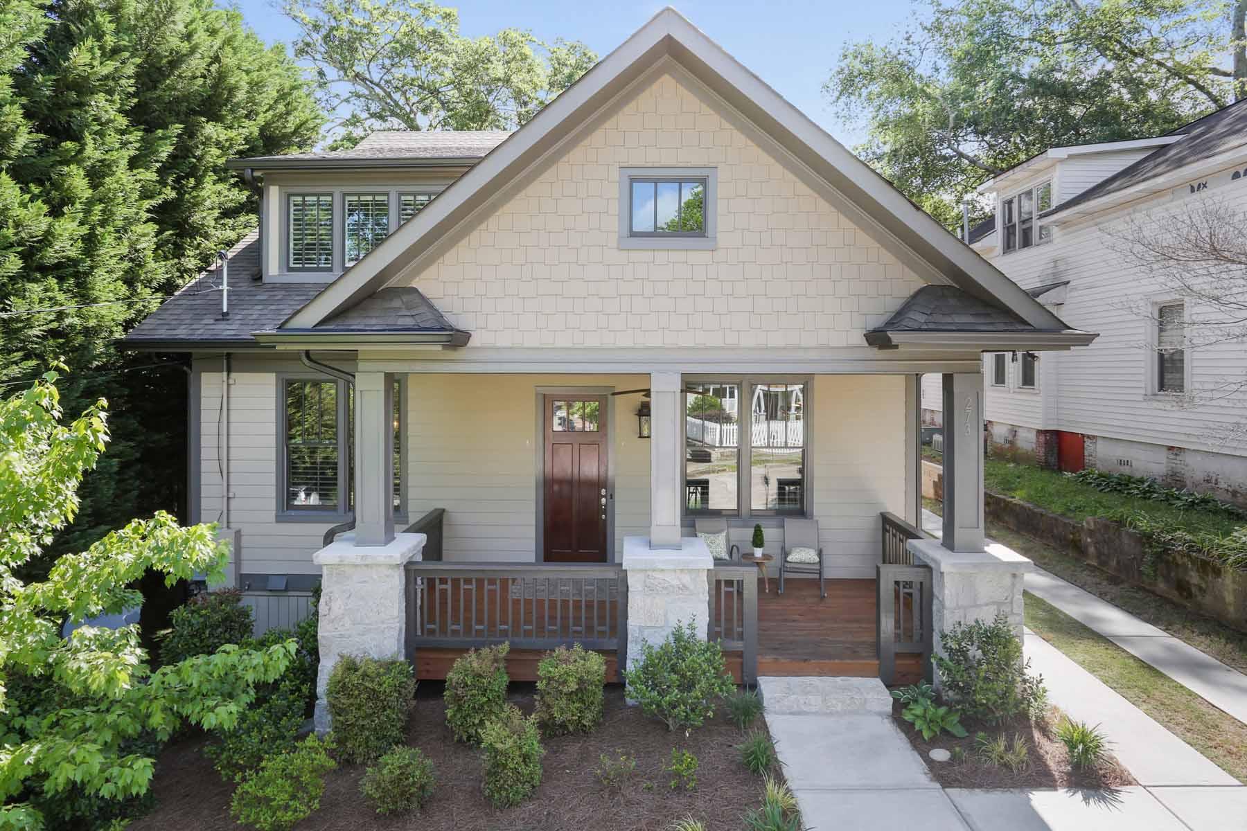 Частный односемейный дом для того Продажа на Gorgeous Lake Claire Craftsman 273 Mathews Avenue NE Lake Claire, Atlanta, Джорджия, 30307 Соединенные Штаты