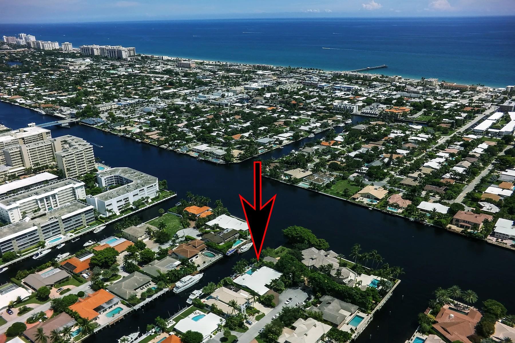 Casa para uma família para Venda às Coral Ridge Country Club 3101 NE 46 ST Fort Lauderdale, Florida 33308 Estados Unidos