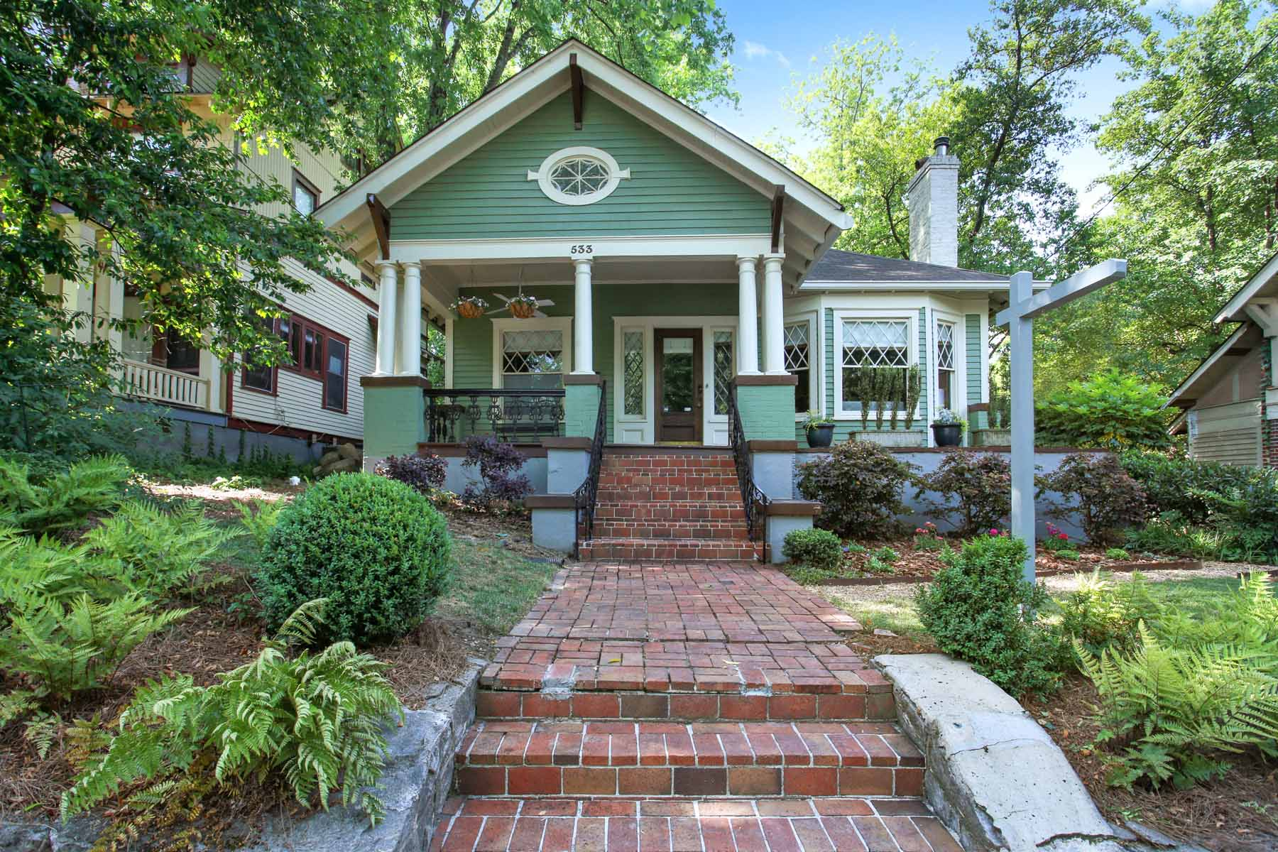 Single Family Home for Sale at Stunning Midtown Home 533 Greenwood Avenue NE Midtown, Atlanta, Georgia, 30308 United States