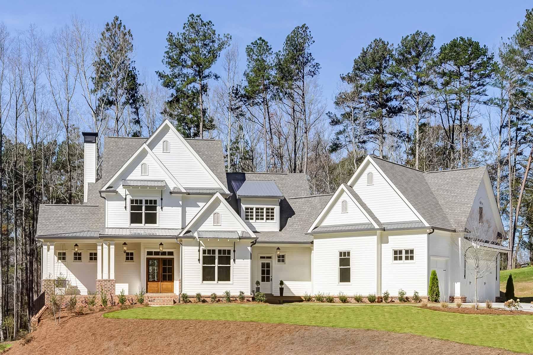 Casa para uma família para Venda às Stunning new home on 3.7 pastoral acres in a quiet 4 lot cul-de-sac. 2752 Batesville Road Canton, Geórgia 30115 Estados Unidos