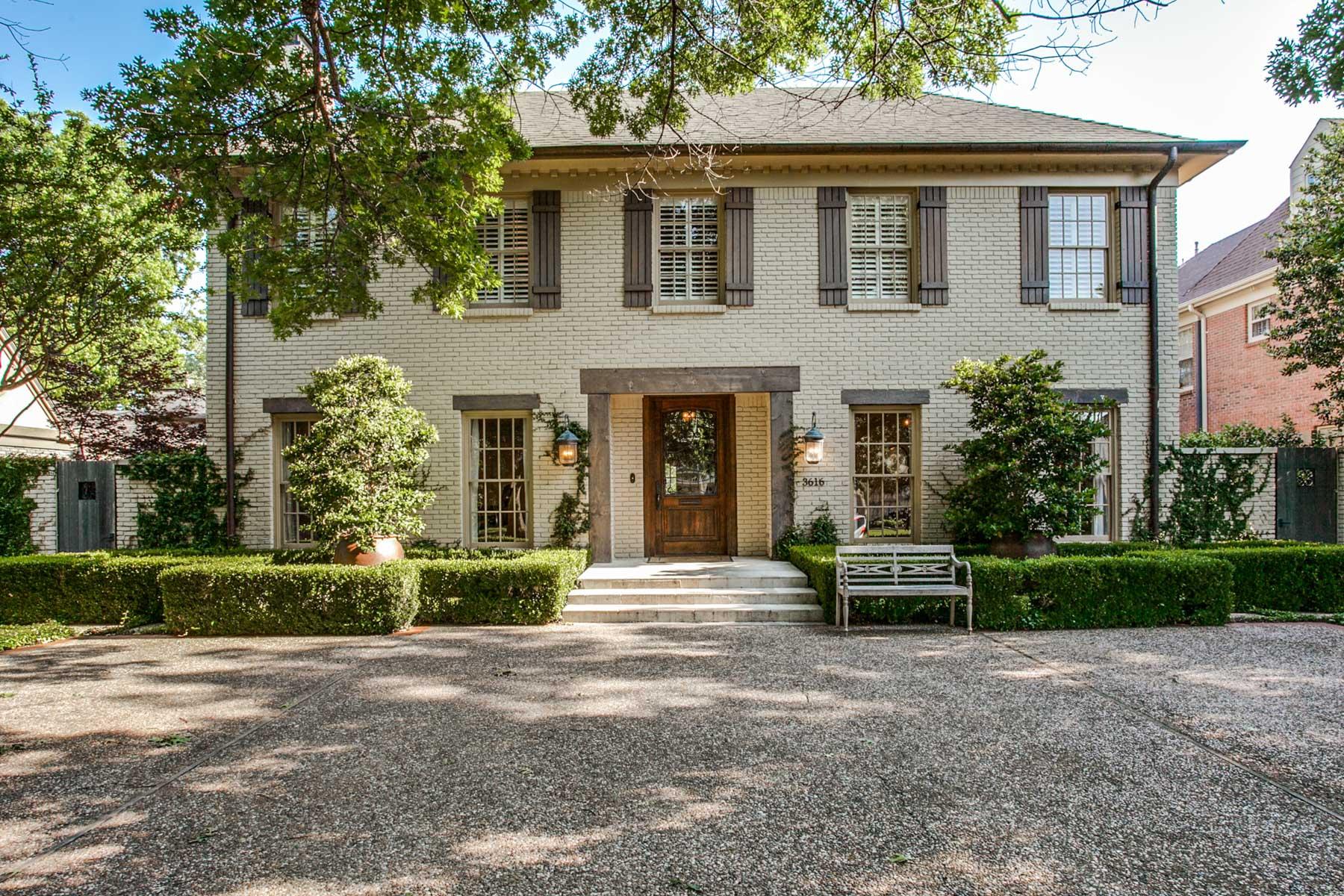 Частный односемейный дом для того Продажа на University Park Charming Transitional 3616 Greenbrier Dr Dallas, Техас, 75225 Соединенные Штаты