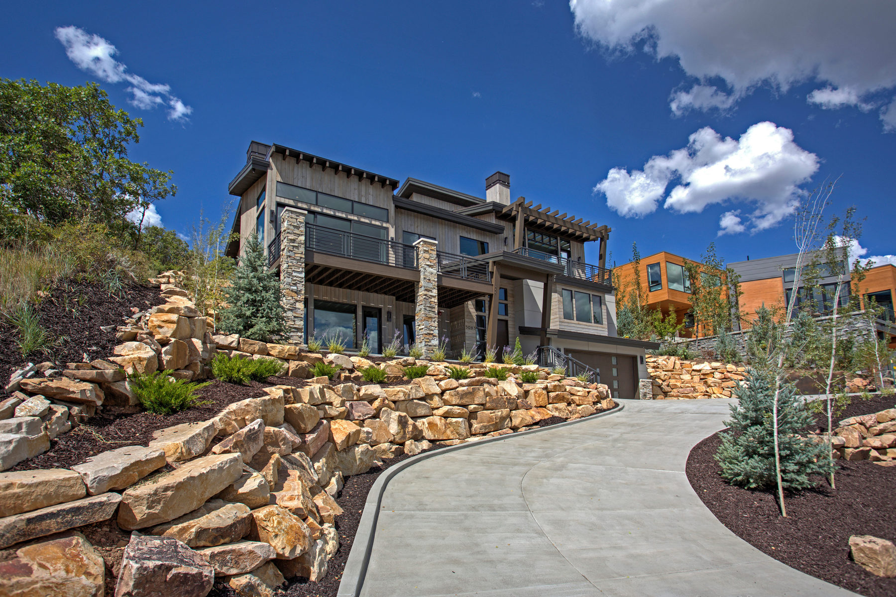Single Family Home for Sale at New Mountain Contemporary Home 3085 Mountain Ridge Ct Park City, Utah 84060 United States