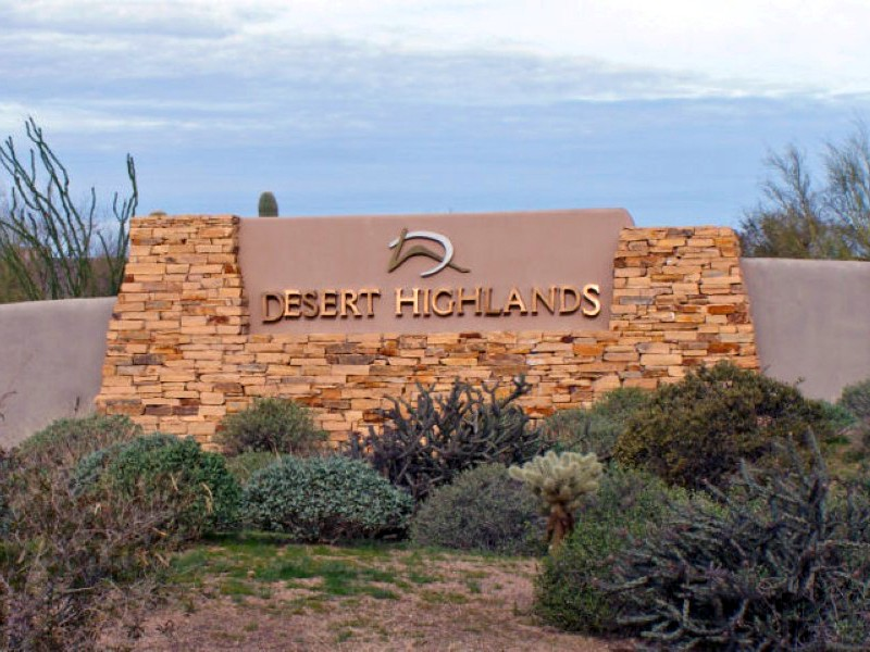 Property For Sale at Custom Golf Course View Lot in Desert Highlands