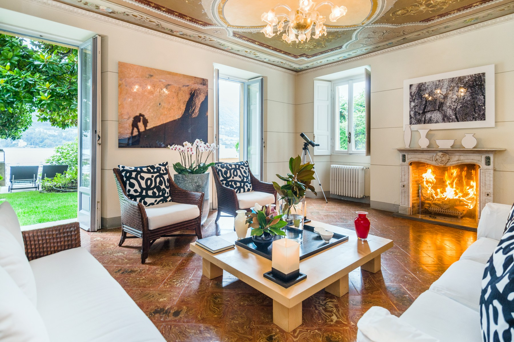 Single Family Home for Sale at Splendid 18th century villa overlooking Lake Como Via Regina Carate Urio, Como 22010 Italy