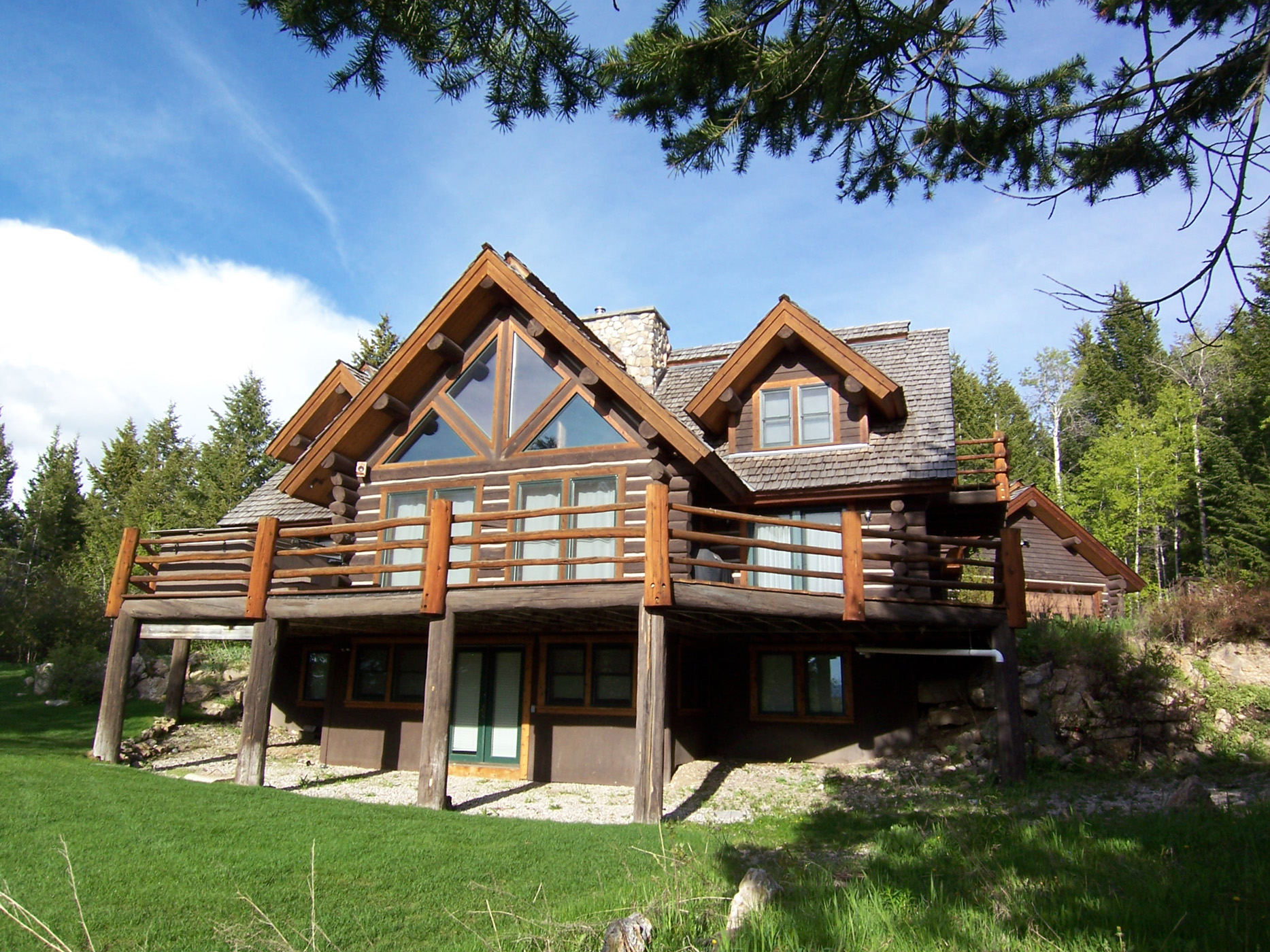 sales property at Handcrafted Log Home in the Trees