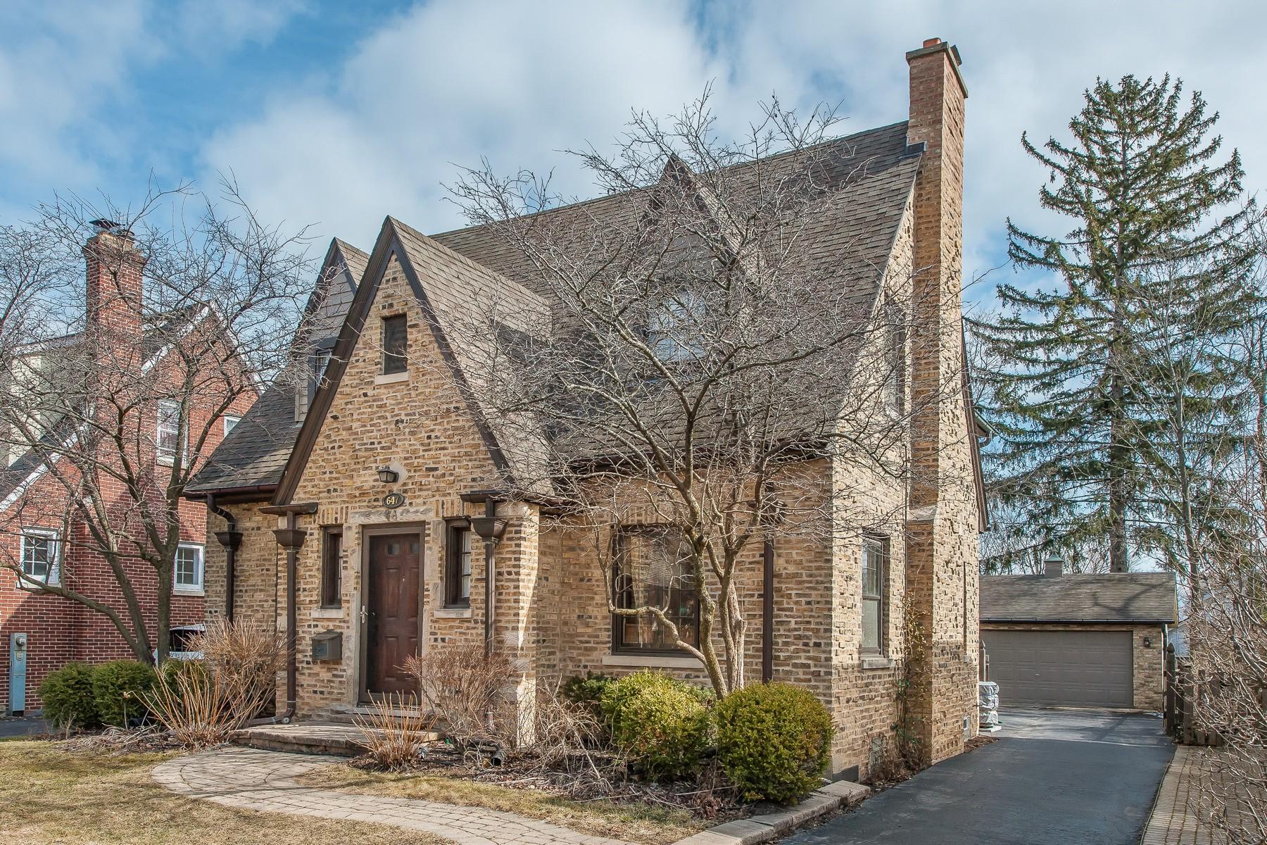 sales property at Wonderful Brick English Tudor Center Entrance