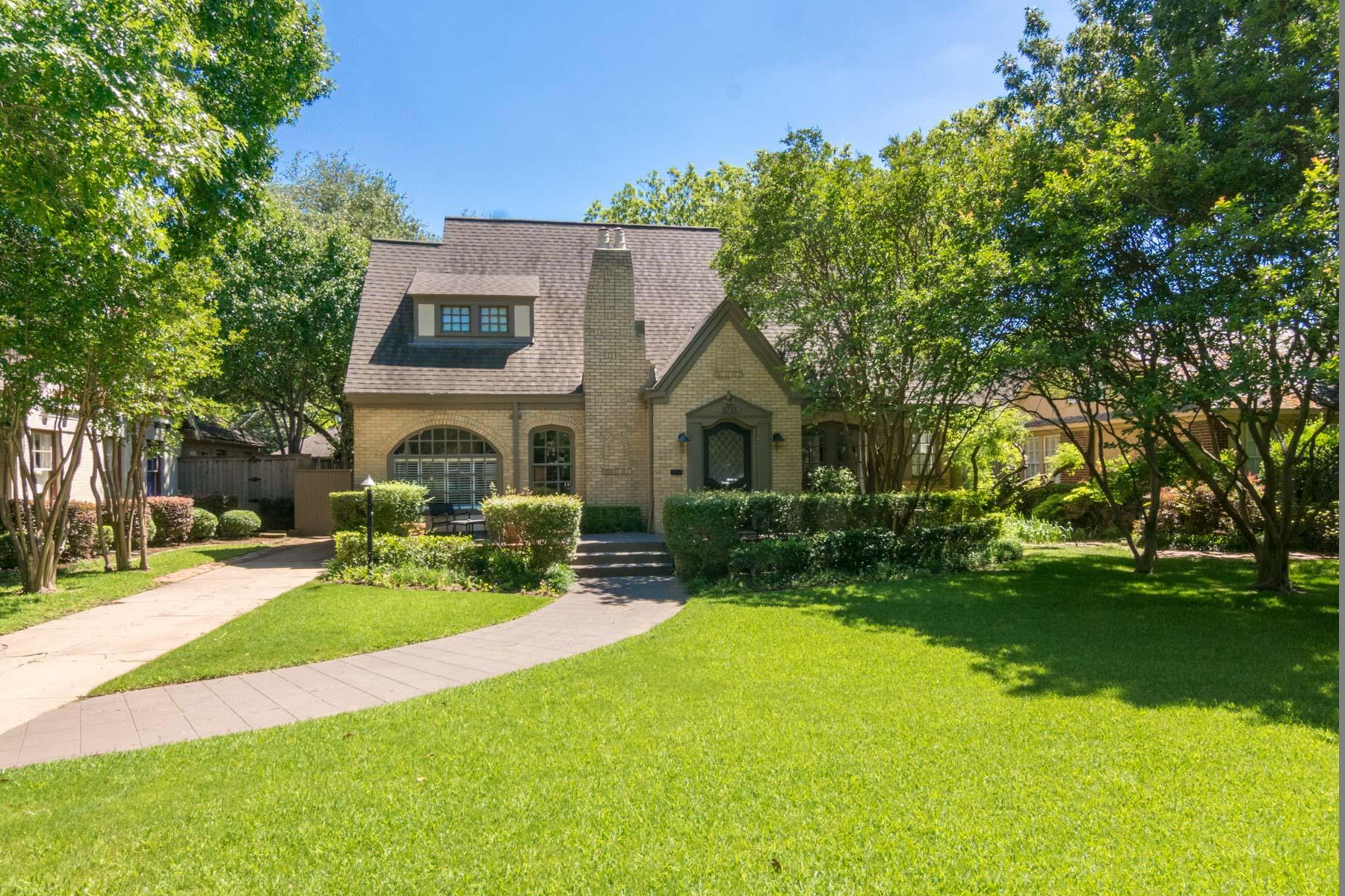 단독 가정 주택 용 매매 에 Highland Park Traditional 3715 Mockingbird Lane Dallas, 텍사스, 75205 미국