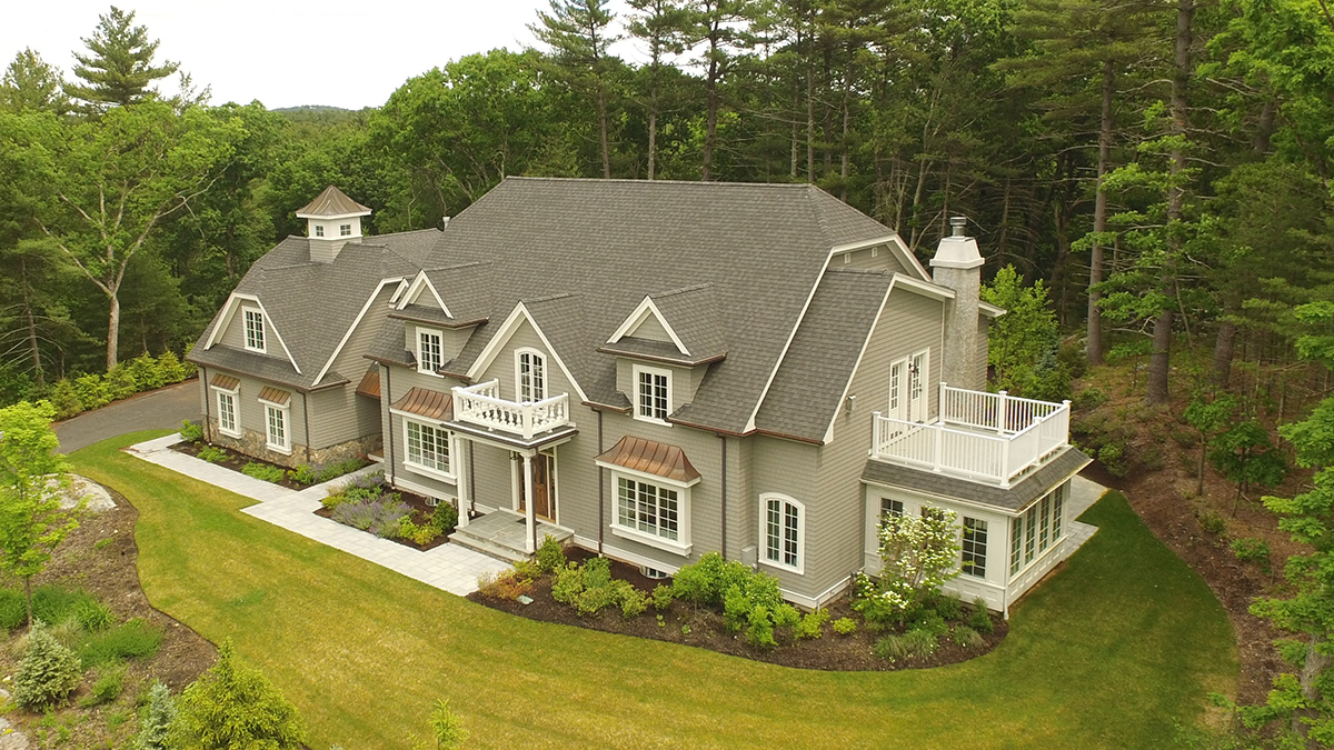 Single Family Home for Sale at Stunning new construction atop a picturesque hill on large lot with unobstructe 14 Aberdeen Road Weston, Massachusetts, 02493 United States