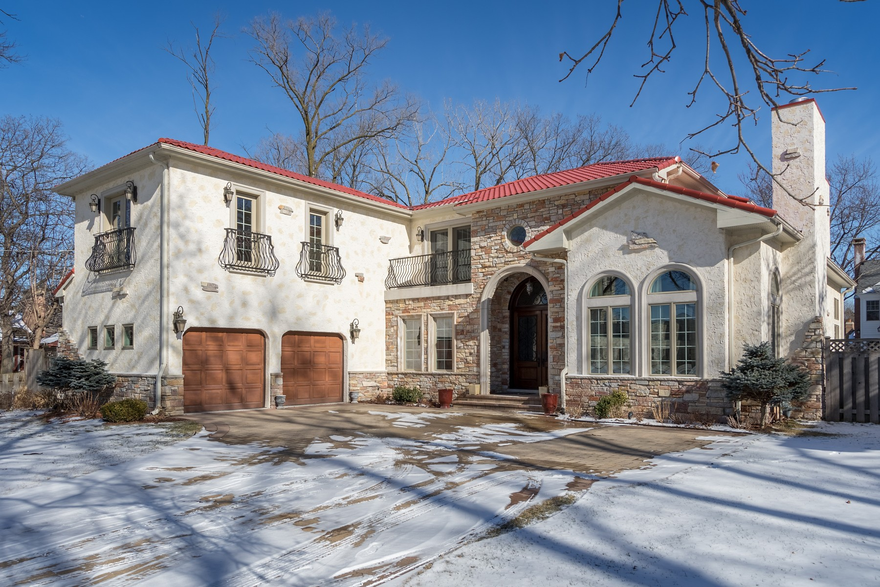 Single Family Home for Sale at Magnificent Mediterranean Style Home 820 Locust Road Wilmette, Illinois, 60091 United States