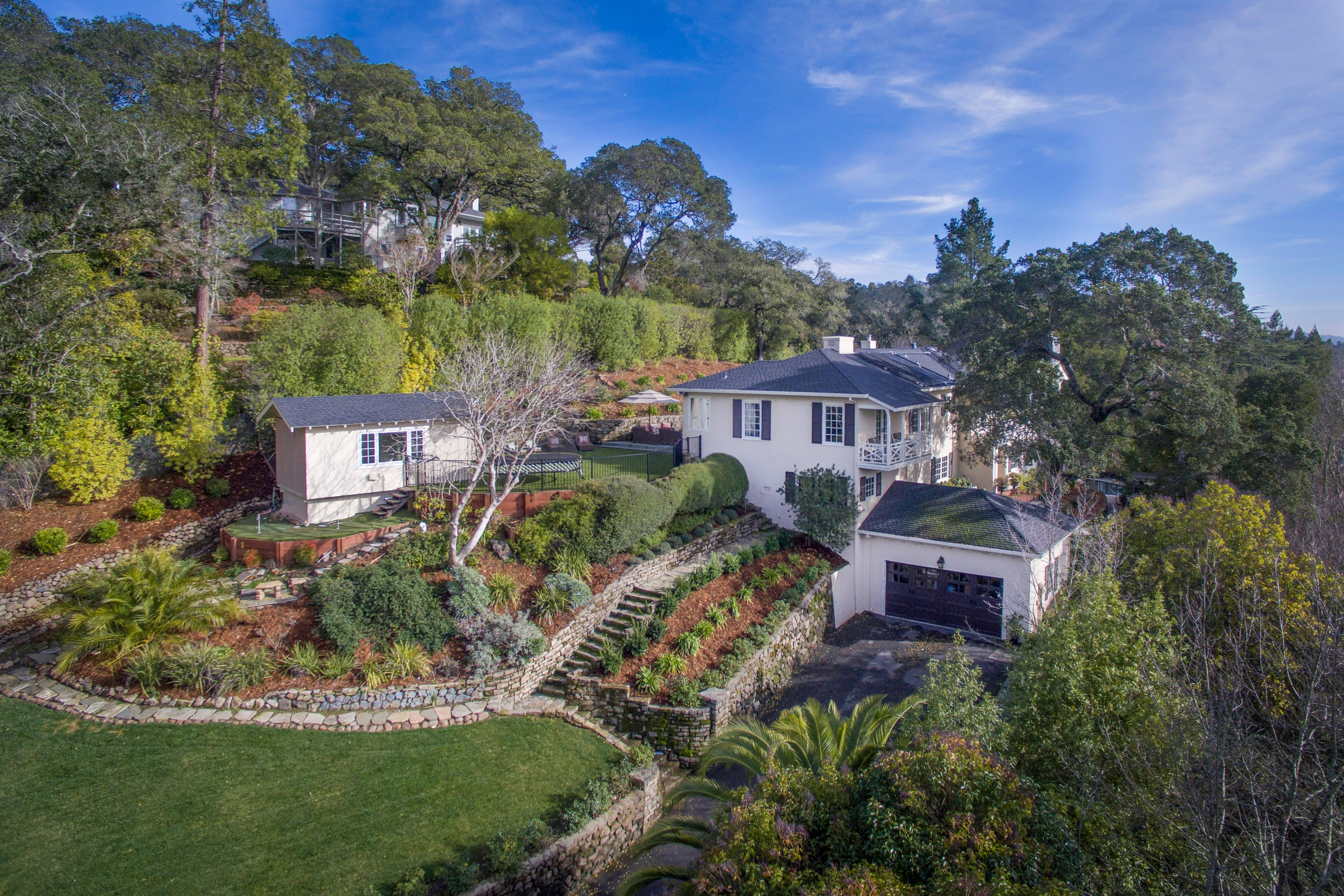 Single Family Home for Sale at Classic East Coast-Style Residence 46 Sir Francis Drake Blvd. Ross, California 94957 United States
