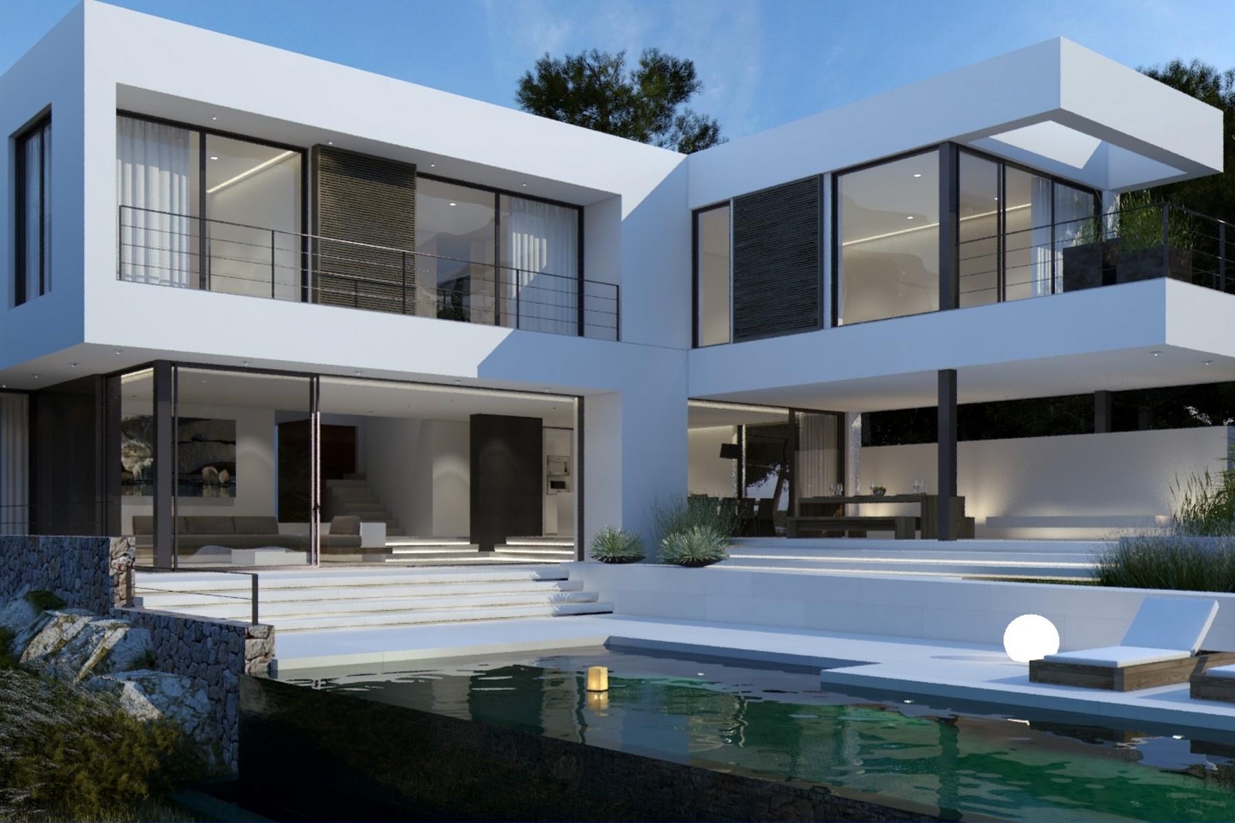 独户住宅 为 销售 在 New build modern villa in Santa Ponsa 圣庞沙, 马洛卡, 01780 西班牙