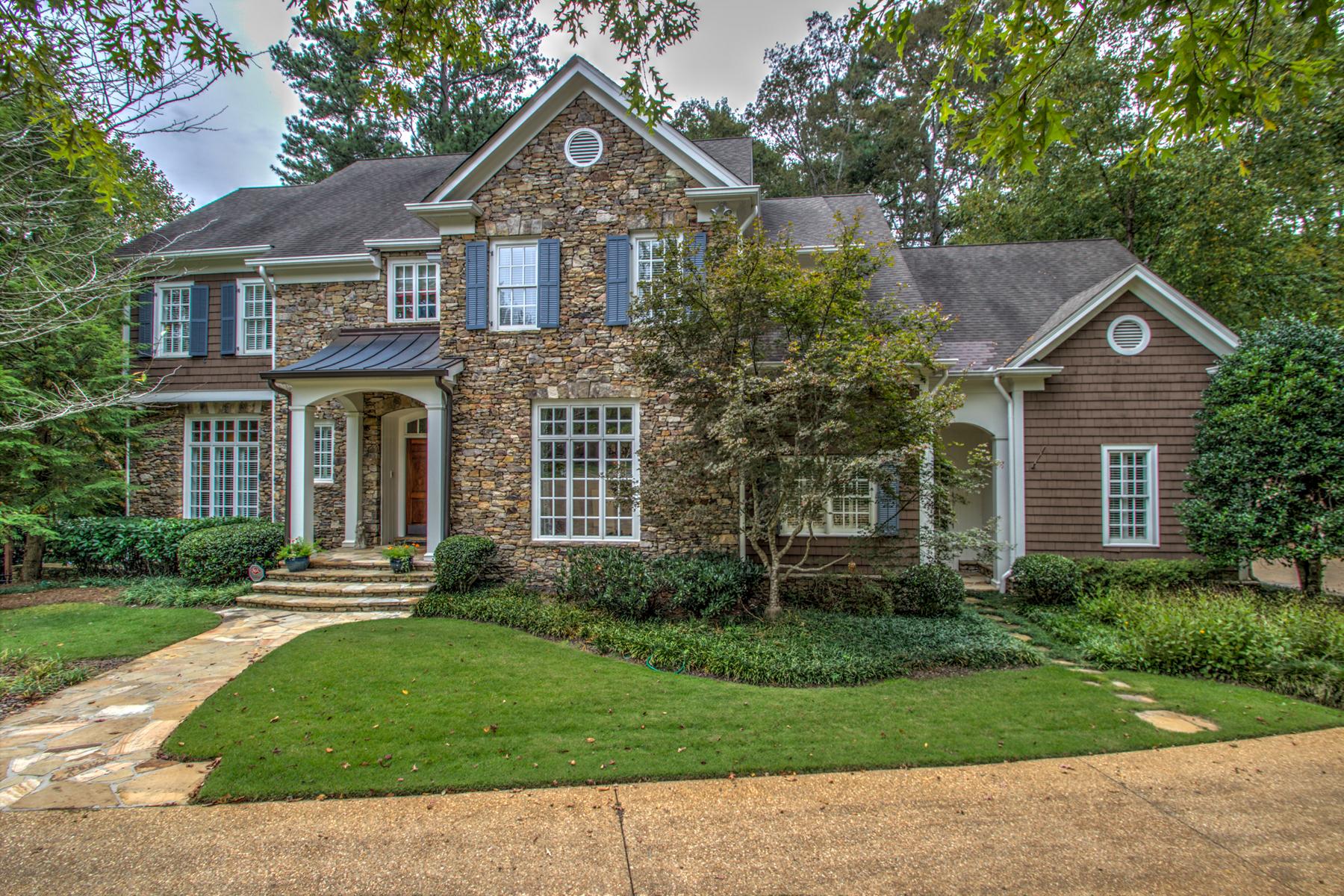 Частный односемейный дом для того Продажа на Located On An Exclusive Private Cul-de-sac Close To Chastain Park 484 Conway Manor Drive NW Chastain Park, Atlanta, Джорджия 30327 Соединенные Штаты