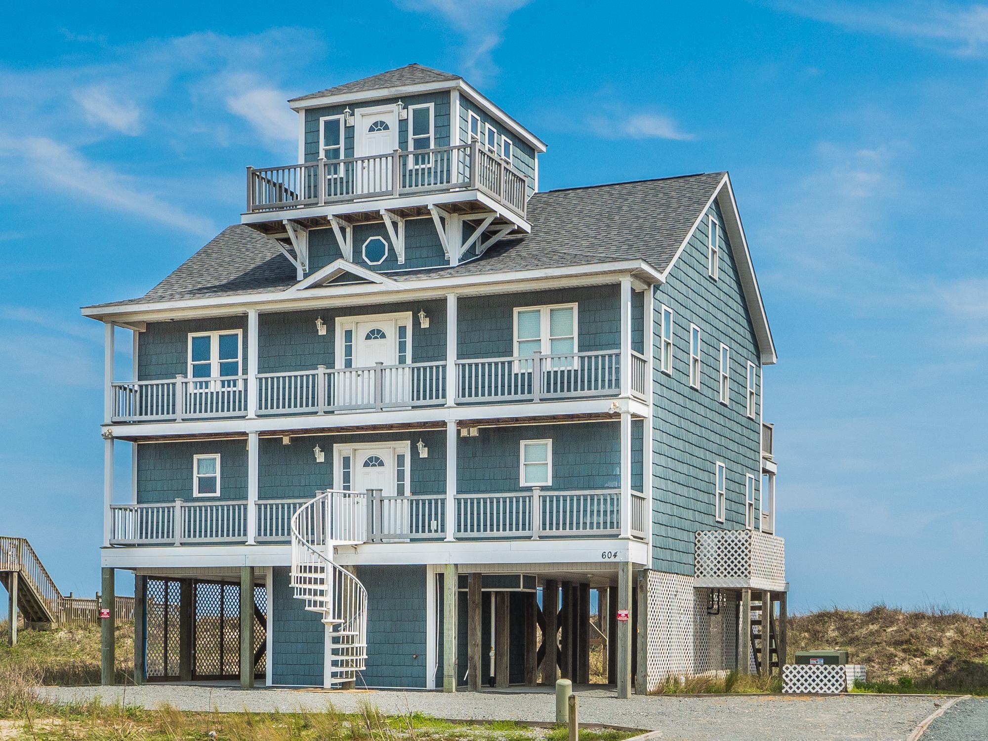 Einfamilienhaus für Verkauf beim Oceanfront Grandeur 604 Hampton Colony Circle N Topsail Beach, North Carolina, 28460 Vereinigte Staaten