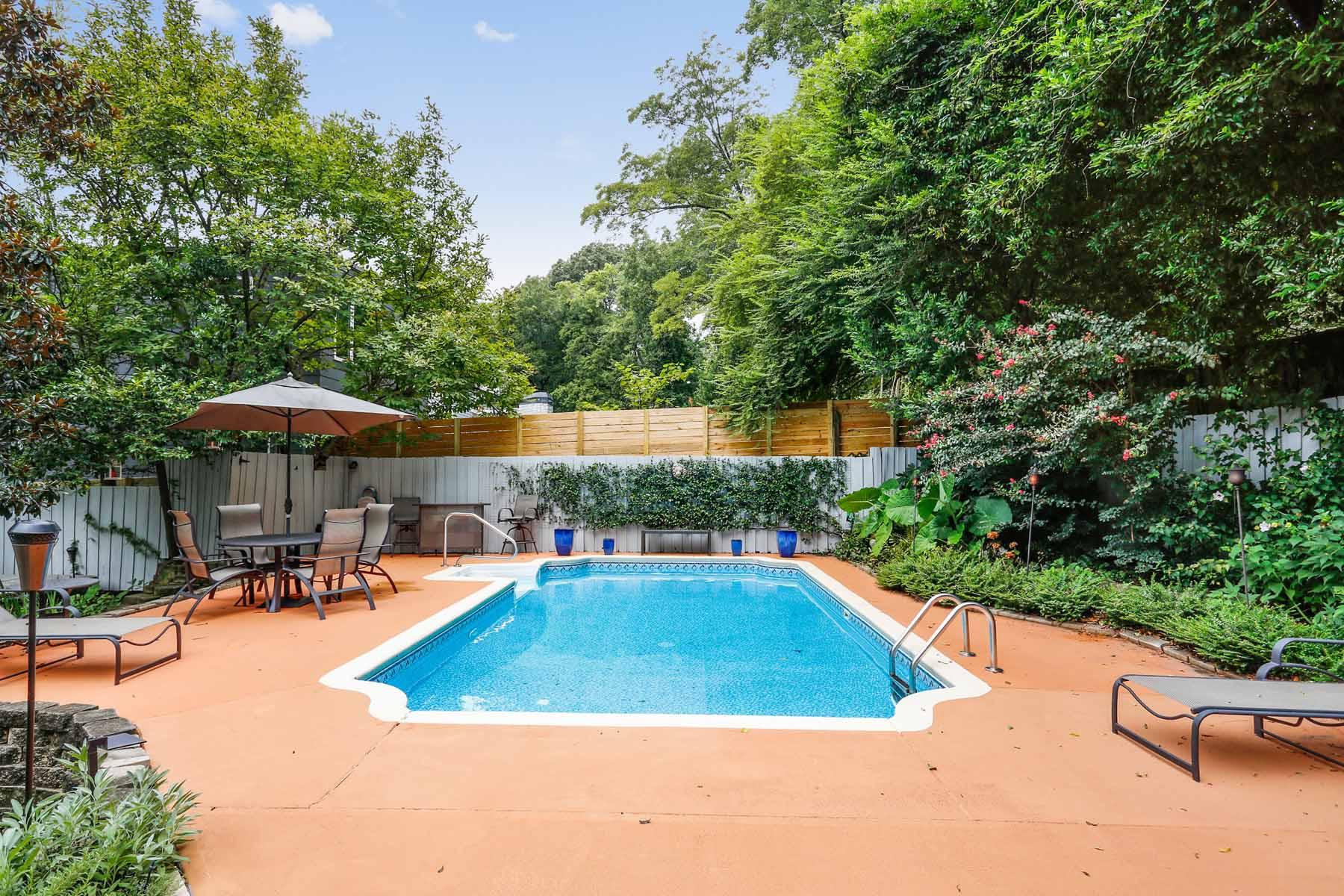獨棟家庭住宅 為 出售 在 Cute Midtown Home Near Piedmont Park With A Pool! 406 7th Street NE Midtown, Atlanta, 喬治亞州, 30308 美國