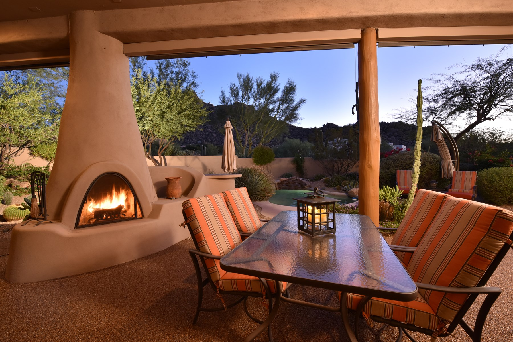Single Family Home for Sale at Outstanding resort yard frames the up close dramatic view of Troon Mountain 11071 E Desert Troon L Scottsdale, Arizona 85255 United States