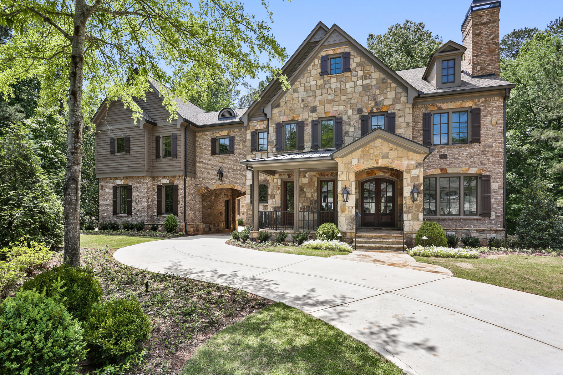 sales property at Stunning Brick And Stone New Construction In Prime Sandy Springs Location