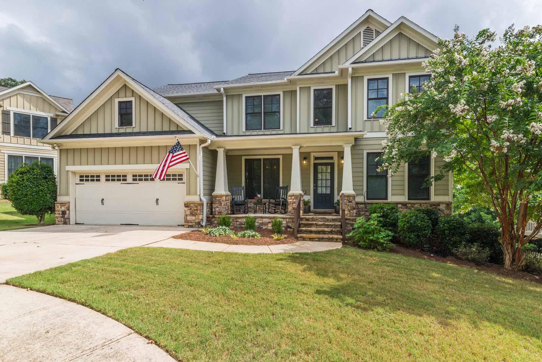 Tek Ailelik Ev için Satış at Beautiful Craftsman Styled Home Near Suwanee Town Center 128 Park Pointe Way Suwanee, Georgia, 30024 Amerika Birleşik Devletleri