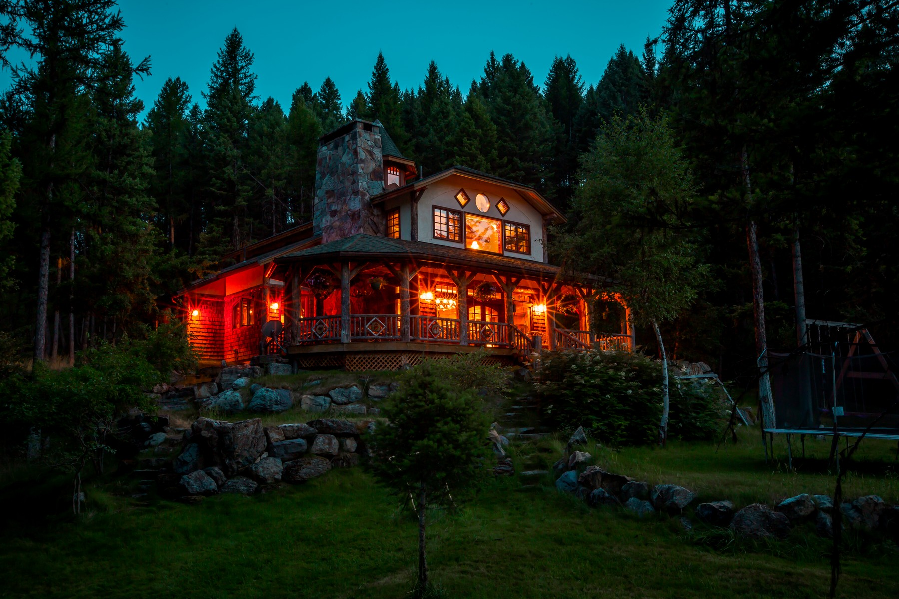 Moradia para Venda às Eagle's Retreat Custom Home 660 Bootjack Lake Rd Whitefish, Montana 59937 Estados Unidos