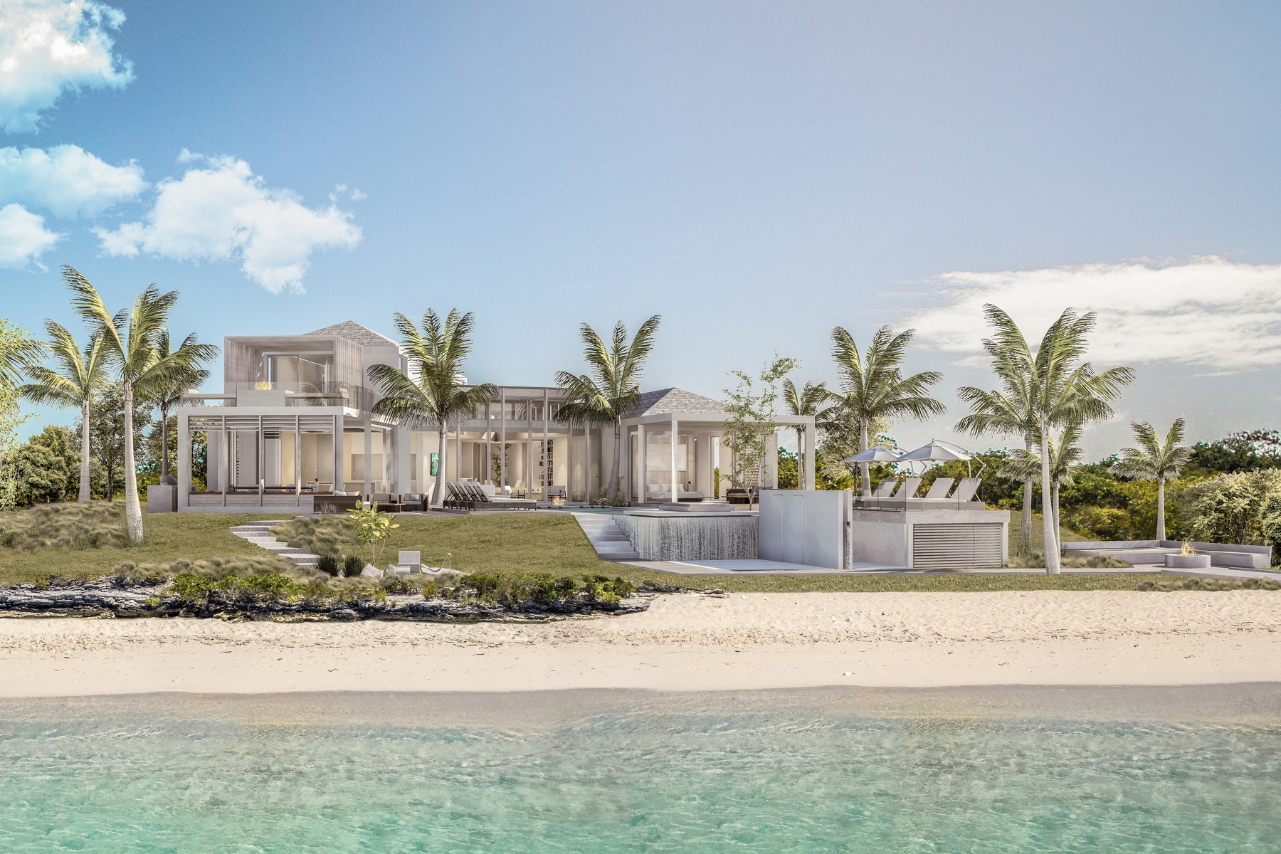 Maison unifamiliale pour l Vente à Panorama Y House - Beachfront Lot 2 Leeward, Providenciales Îles Turques Et Caïques