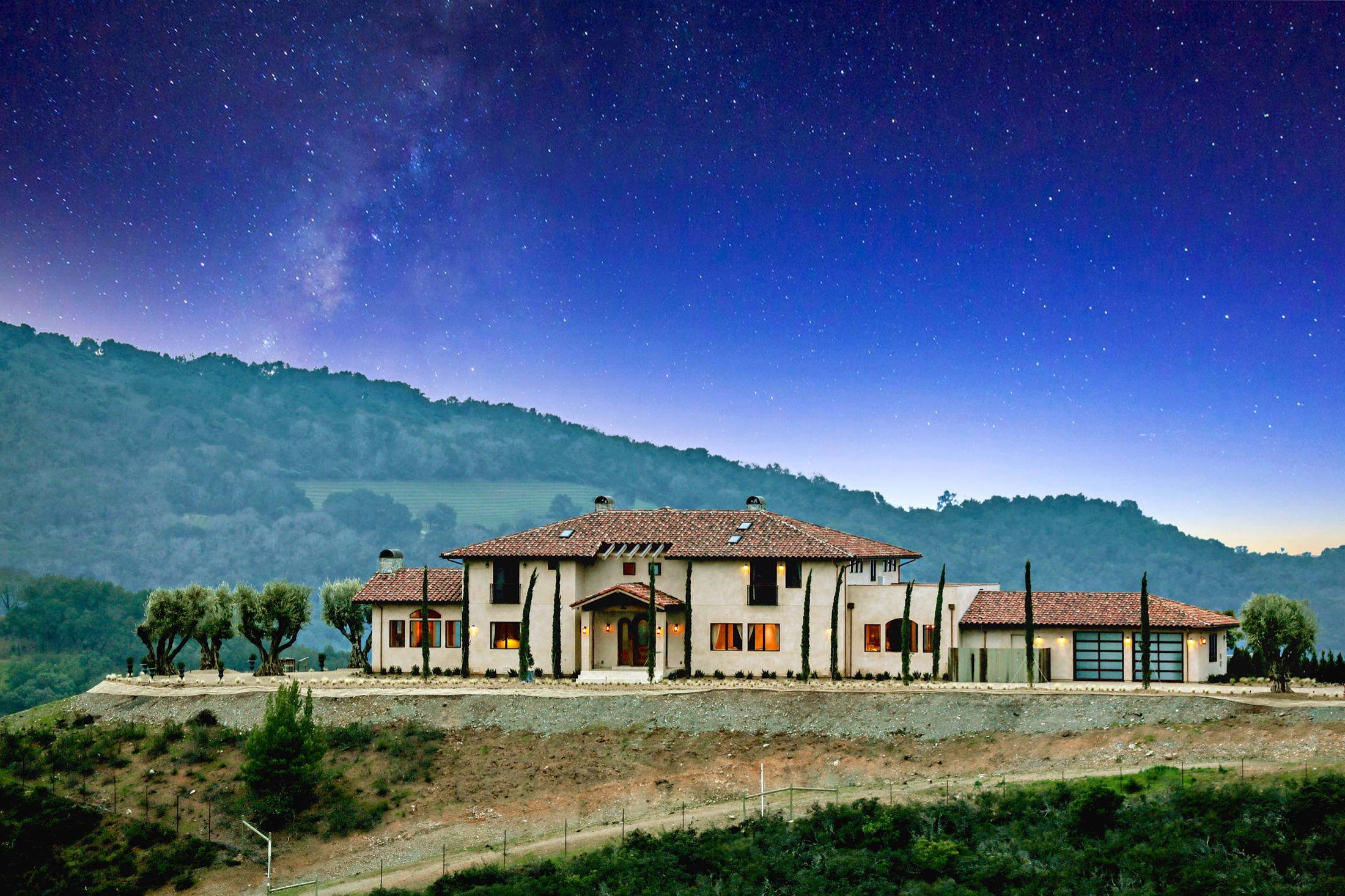 Single Family Home for Sale at Napa Valley Estate with Panoramic Views 189 Reserve Road St. Helena, California 94574 United States