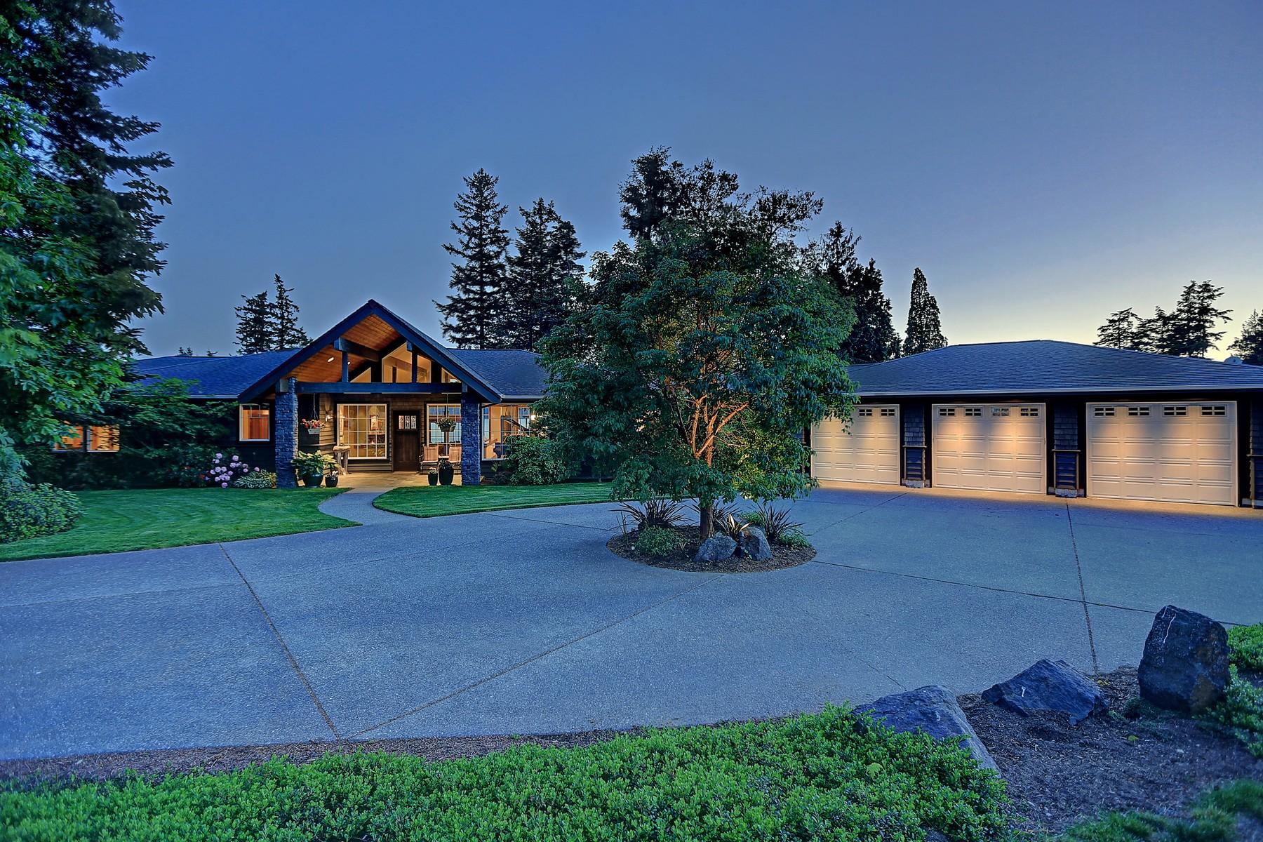 Частный односемейный дом для того Продажа на Camano Craftsman 3424 Rose Lane Camano Island, Вашингтон, 98282 Соединенные Штаты