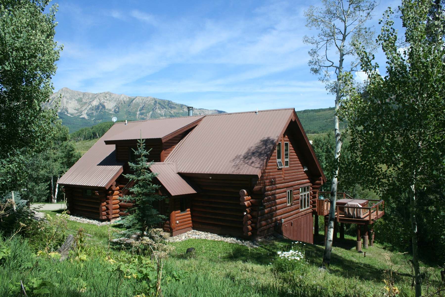 Single Family Home for Sale at Beautiful Log Home 373 Sioux Road Gunnison, Colorado, 81230 United States