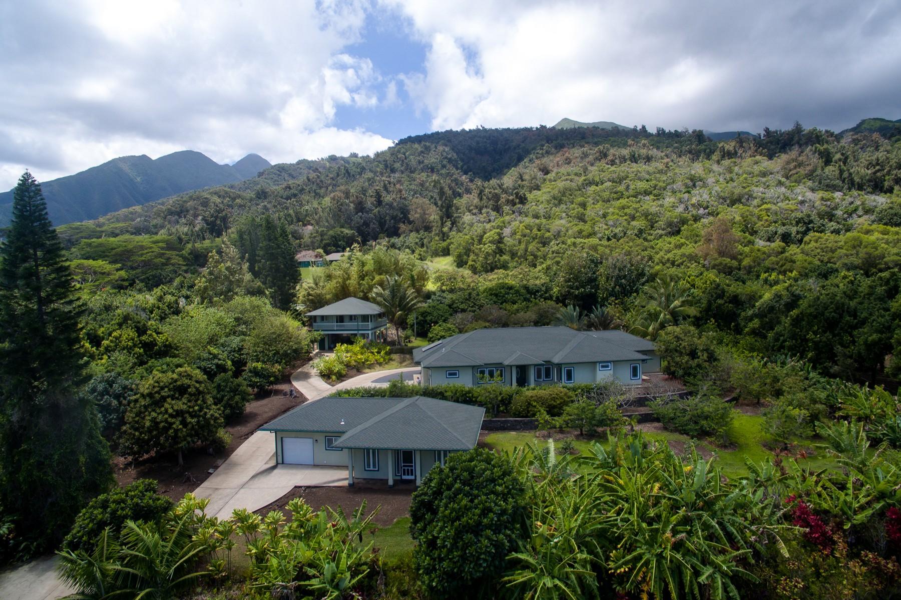 Nhà ở một gia đình vì Bán tại Transcendent 2 Acre Wailuku Country Estate Compound 2392 Kamaile Street, 152 Wailuku, Hawaii, 96793 Hoa Kỳ