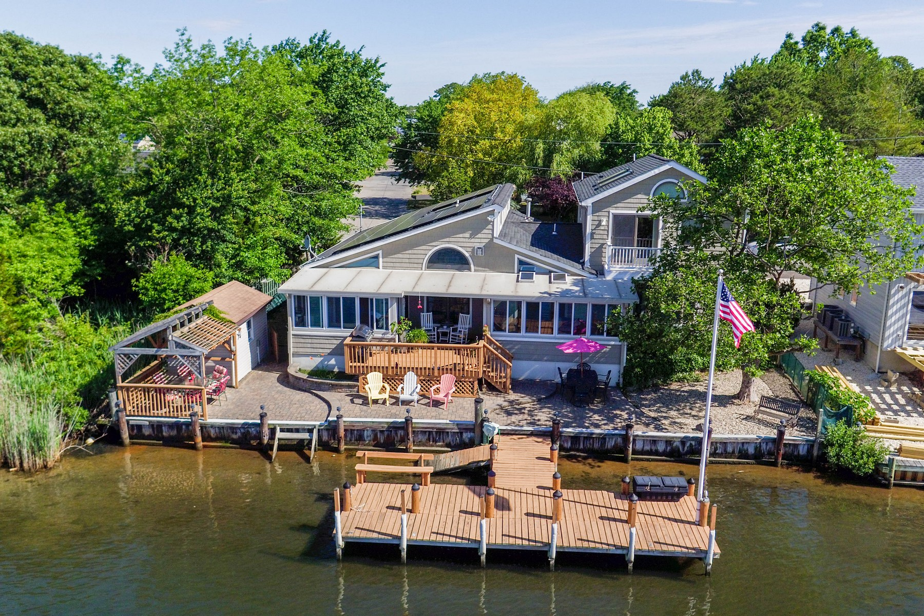 Single Family Home for Sale at Private Waterfront Location 501 N Shore Dr Forked River, 08731 United States