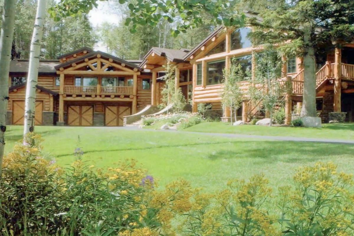 sales property at Breathtaking Custom Log Home Estate