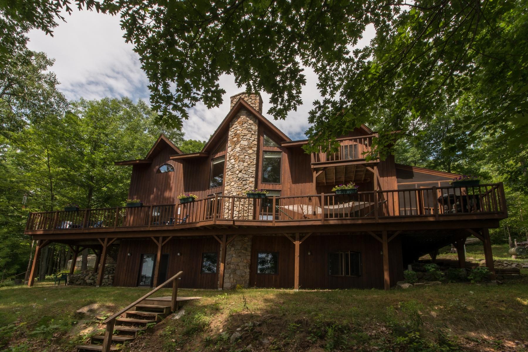 Single Family Home for Sale at Lake Champlain Lake Home 24 Gilbert Cameron Lane Keeseville, New York 12944 United States