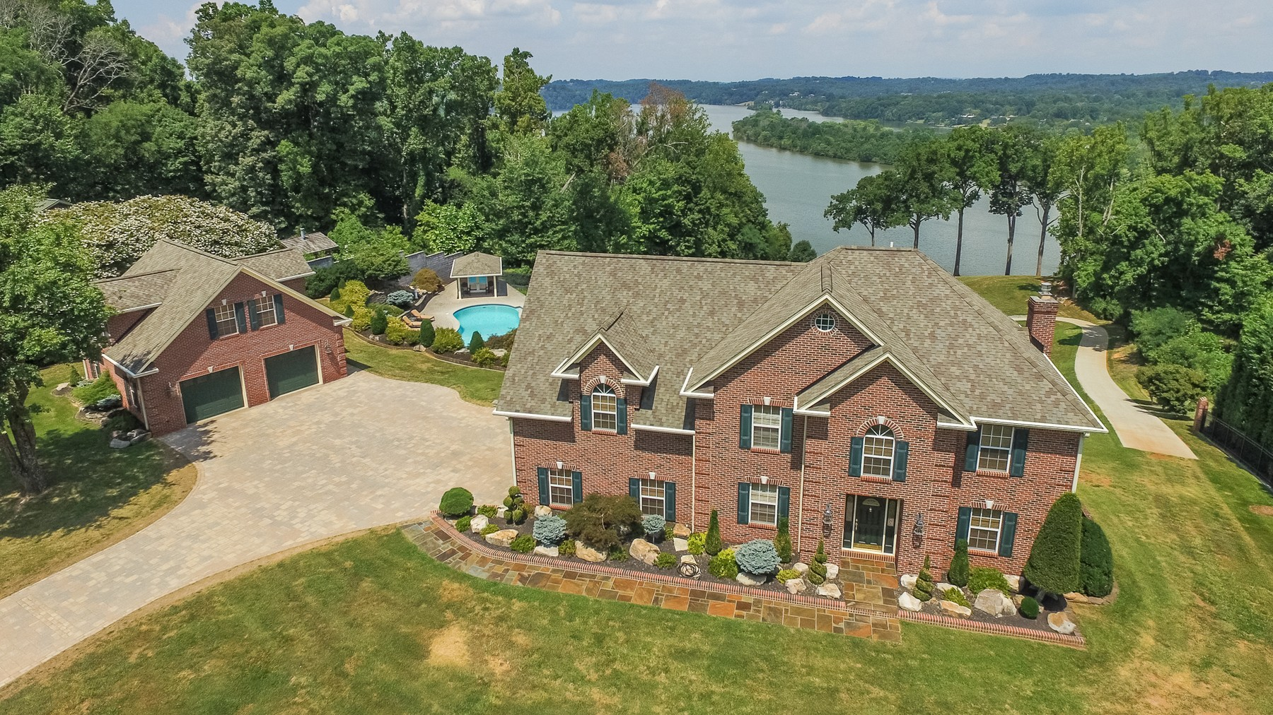 Single Family Home for Sale at Lakefront Estate Perfect For Entertaining 4015 Topside Road SW Knoxville, Tennessee, 37920 United States