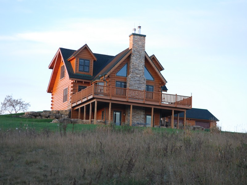 Property For Sale at Spectacular Log Home on 16.5 Acres