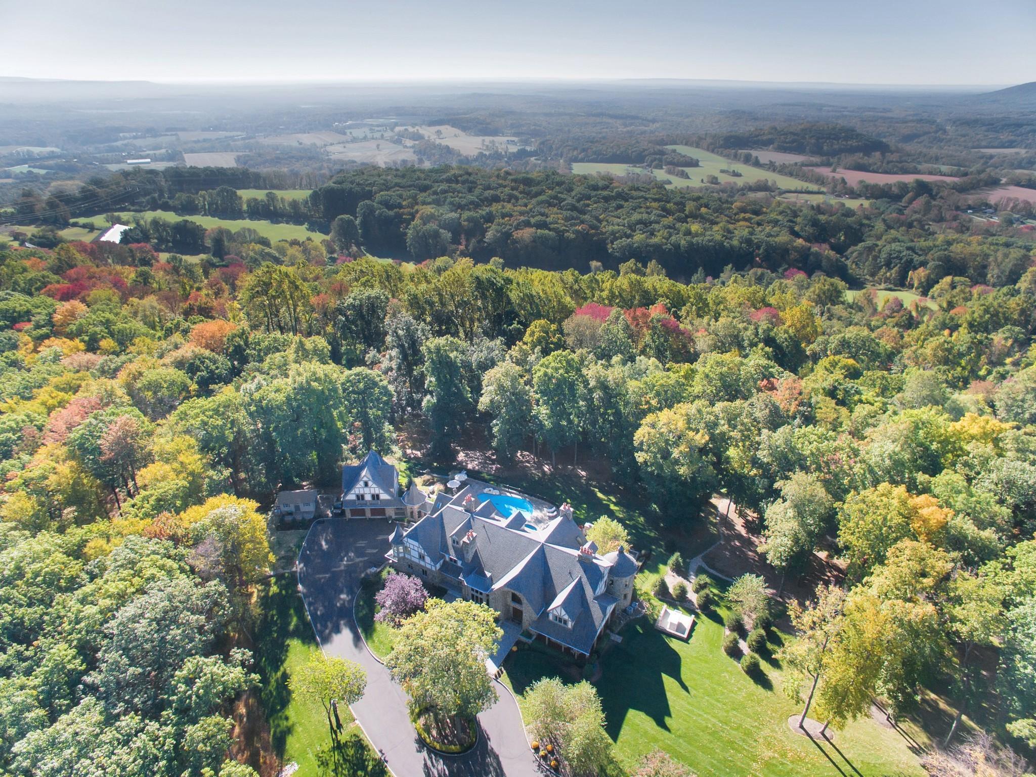 Casa Unifamiliar por un Venta en Mountainside Stone Manor 4 Fieldview Lane Tewksbury Township, Nueva Jersey 07830 Estados Unidos