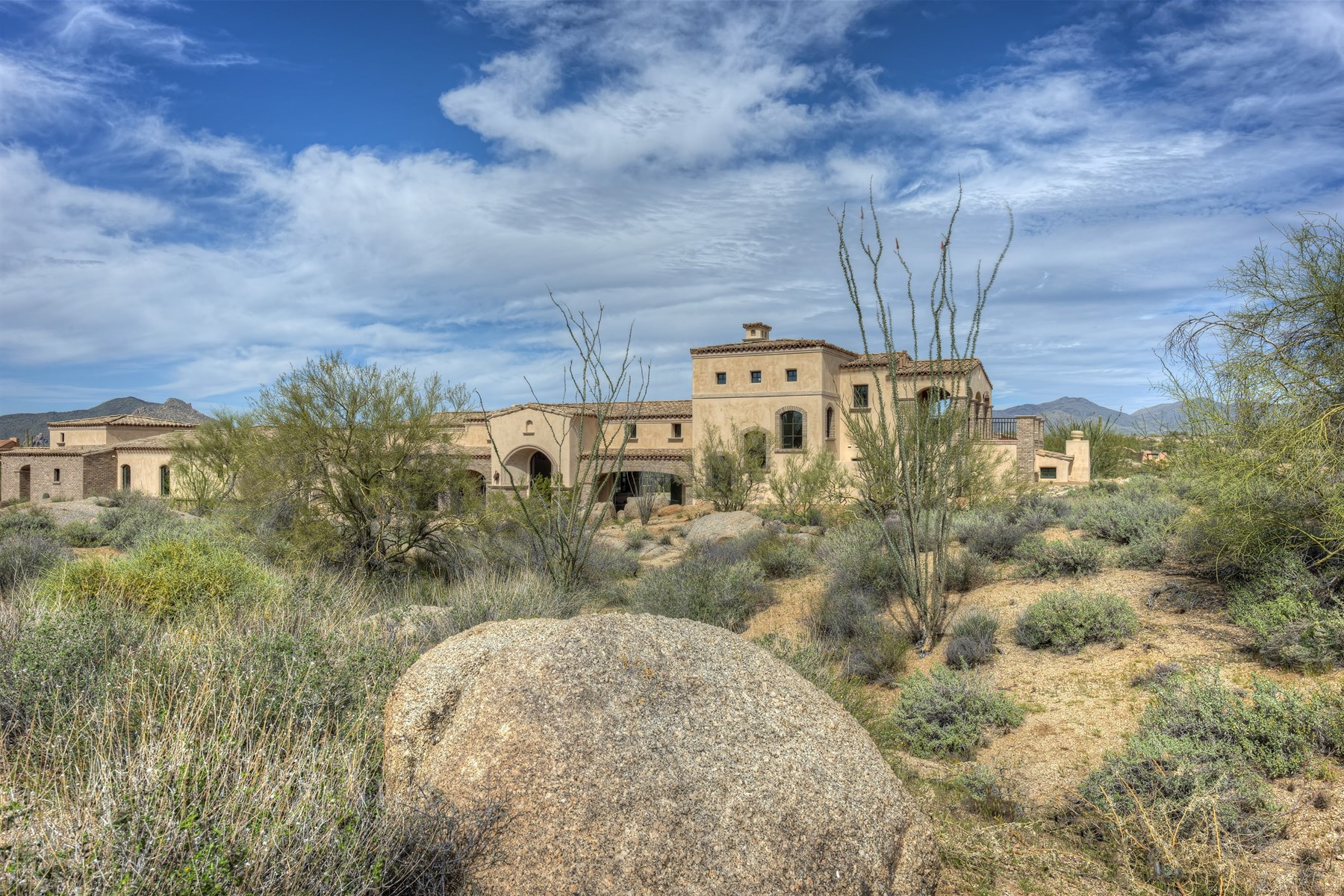Single Family Home for Sale at Rural Mediterranean estate in Whisper Rock 33251 N Solstice Way Scottsdale, Arizona, 85266 United States