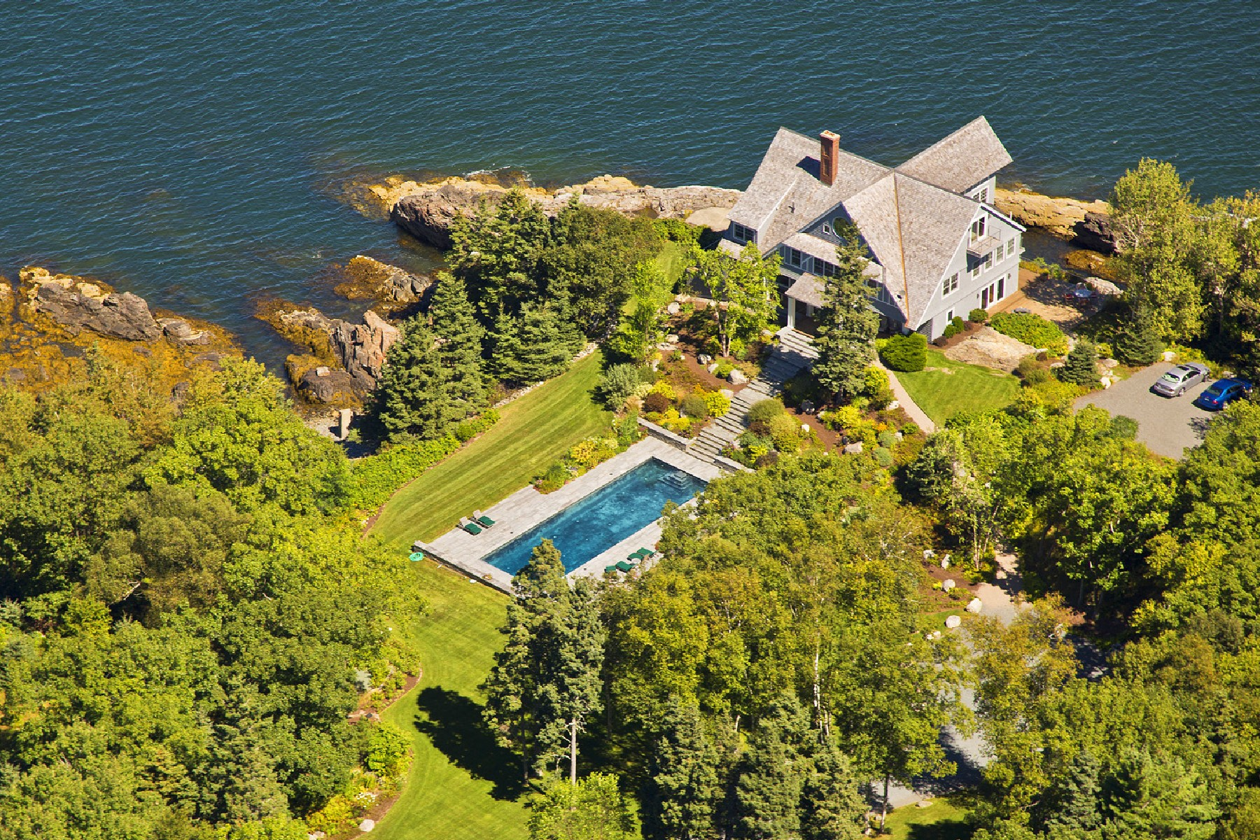 Villa per Vendita alle ore Seaduced 438 Schooner Head Road Bar Harbor, Maine, 04609 Stati Uniti
