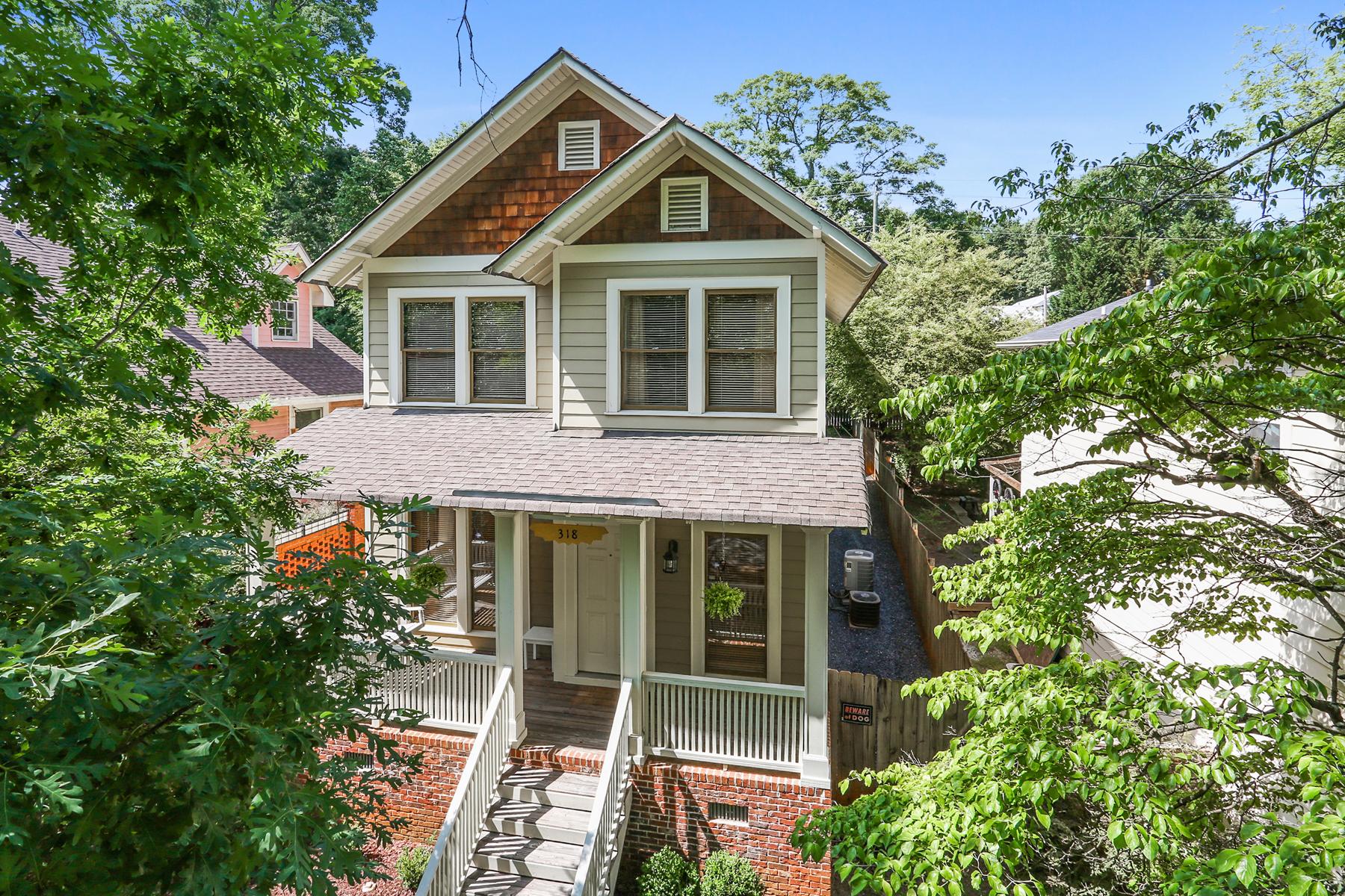 Maison unifamiliale pour l Vente à Wonderful Home In Fantastic Location 318 Grant Park Place Grant Park, Atlanta, Georgia, 30315 États-Unis