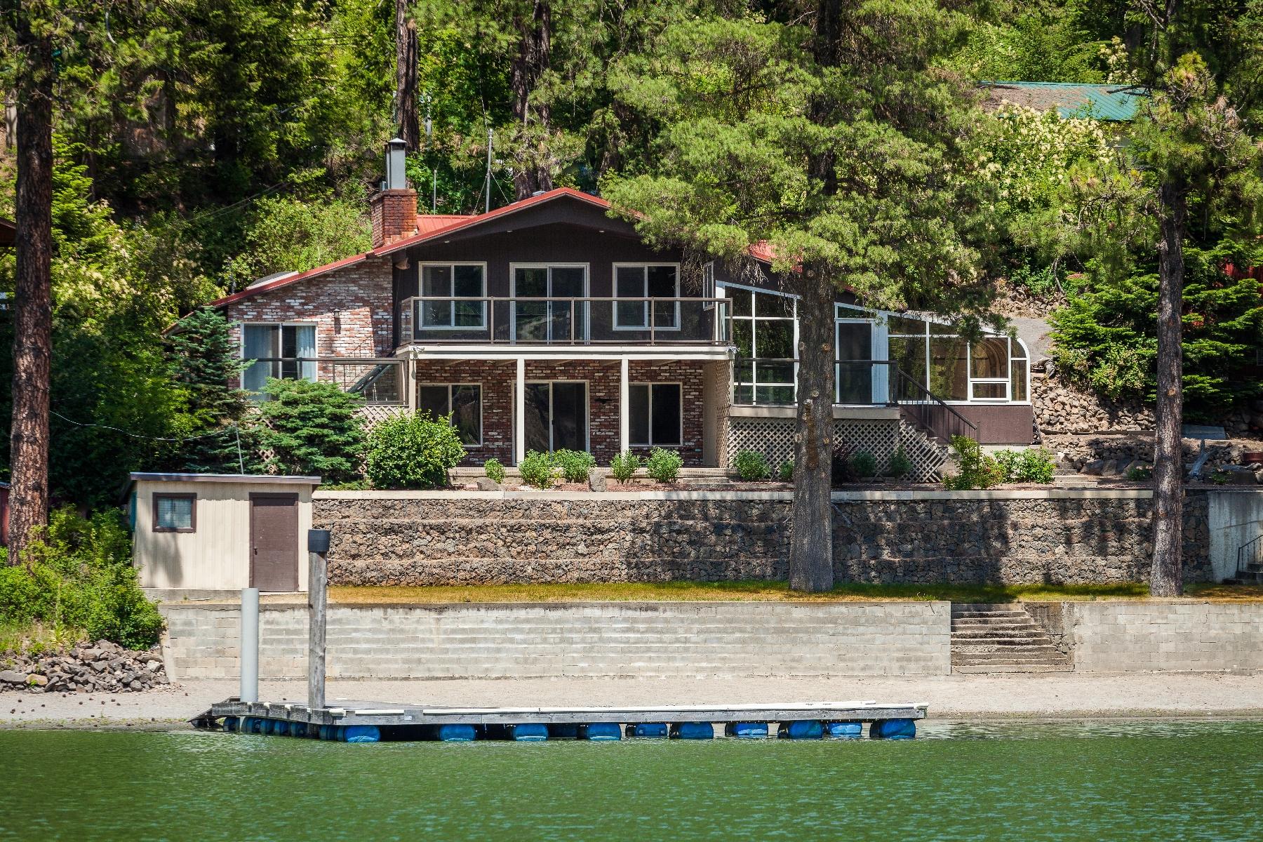 단독 가정 주택 용 매매 에 Lake Coeur d'Alene Waterfront 4052 S Westway Dr Coeur D Alene, 아이다호, 83814 미국