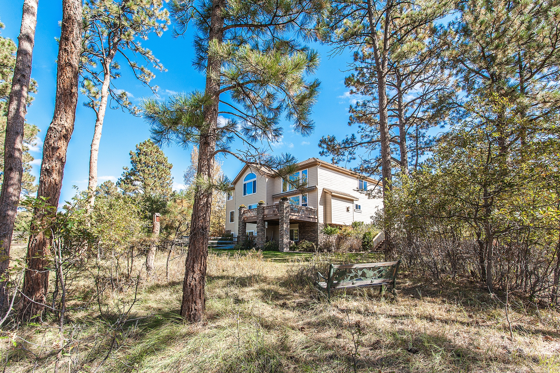 Single Family Home for Sale at Peaceful Timbers retreat backing to wonderful wooded open space 5439 Fox Sparrow Road Parker, Colorado 80134 United States