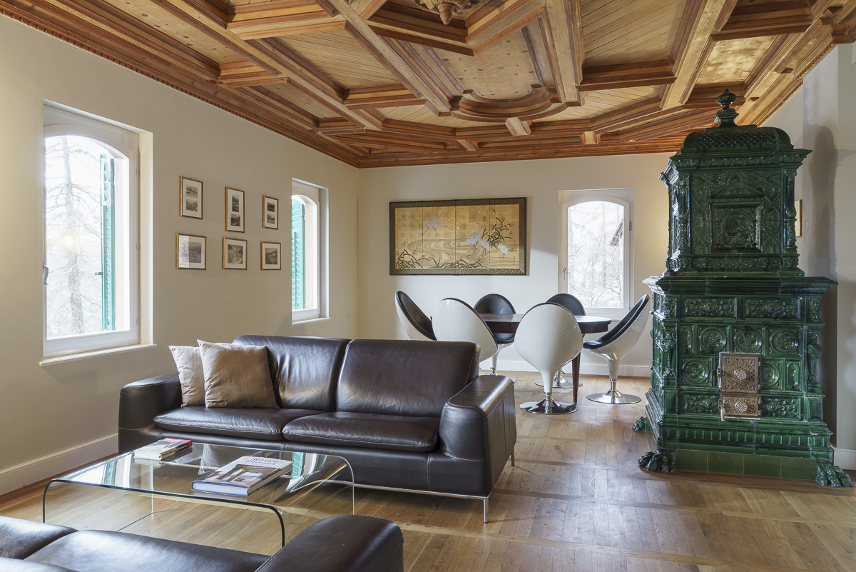 Single Family Home for Sale at Unique 10.5 room villa with spectacular view to the Rosegg valley Pontresina Other Grisons, Grisons, 7504 Switzerland