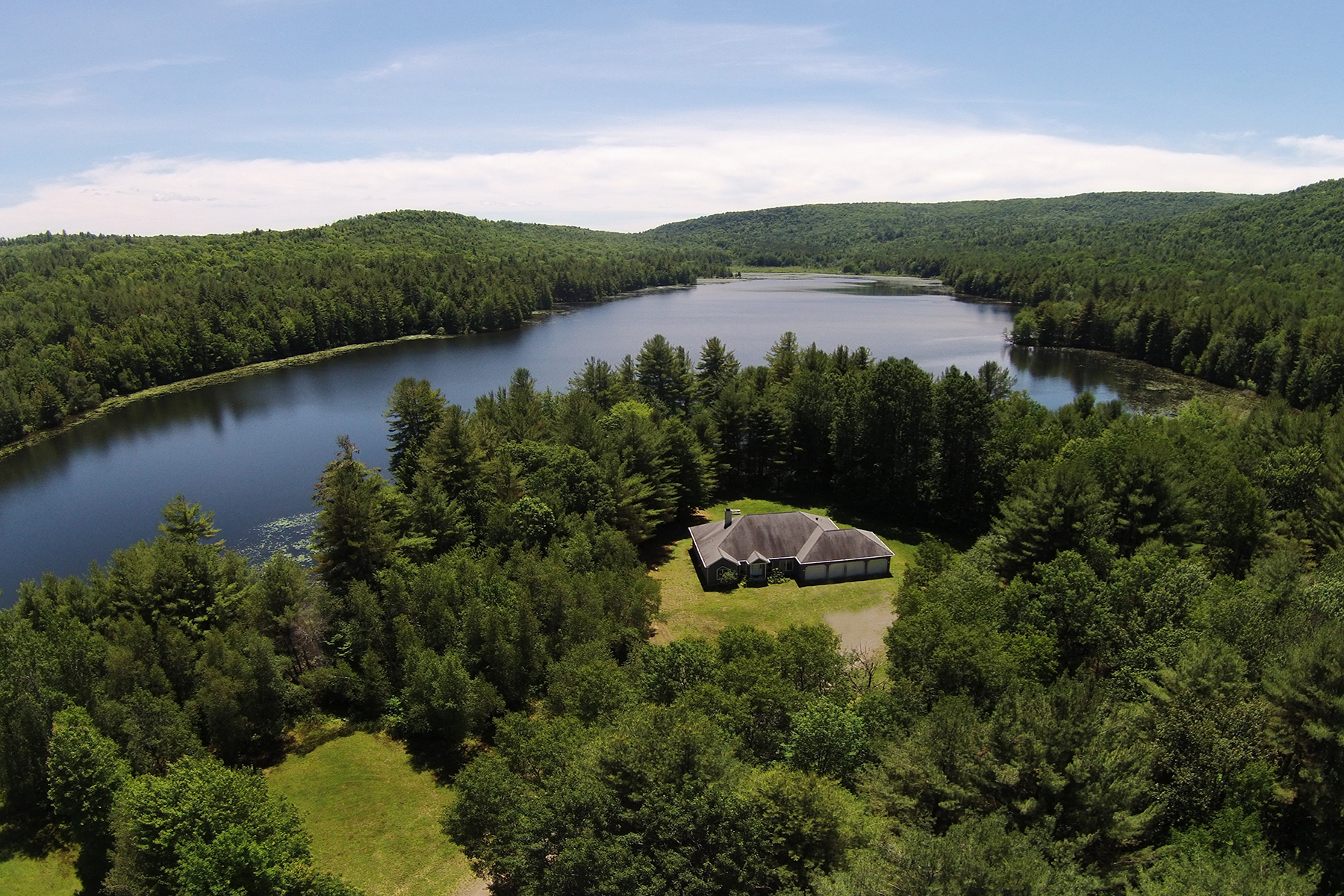 Property For Sale at Private Lake in the Adirondacks